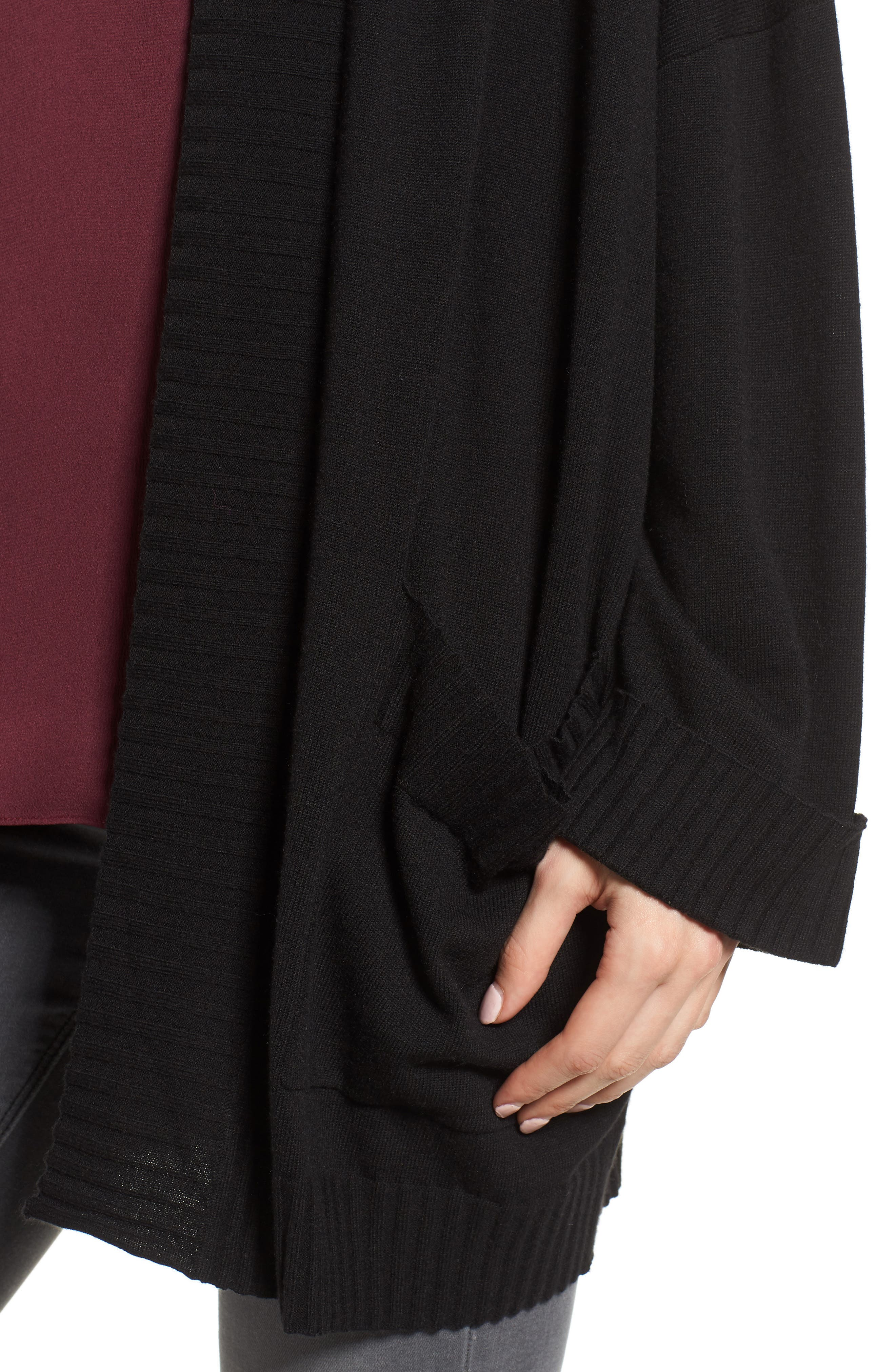 Oversize Open Cardigan,                             Alternate thumbnail 4, color,                             001