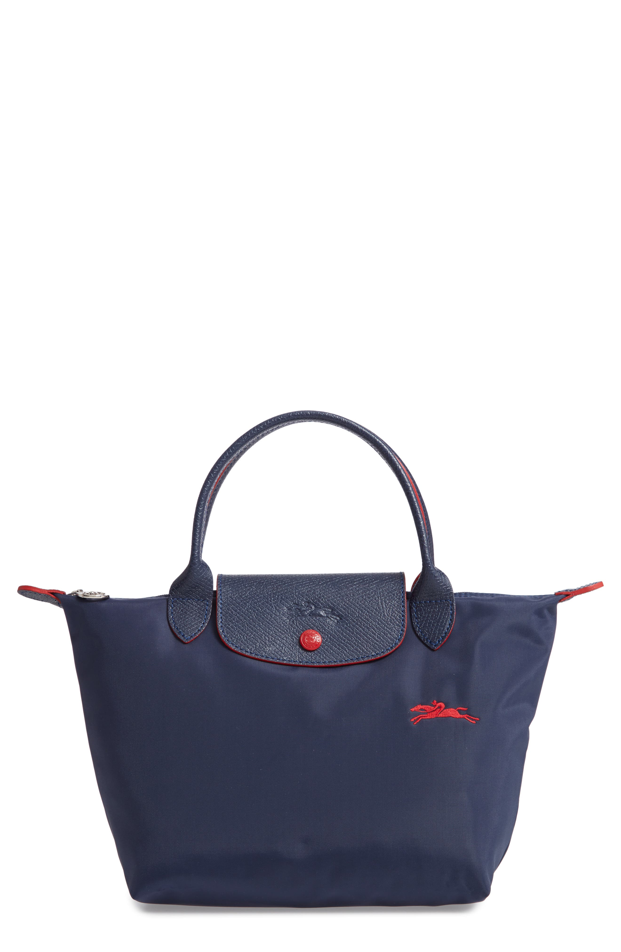 Le Pliage Club Small Top-Handle Tote Bag in Navy