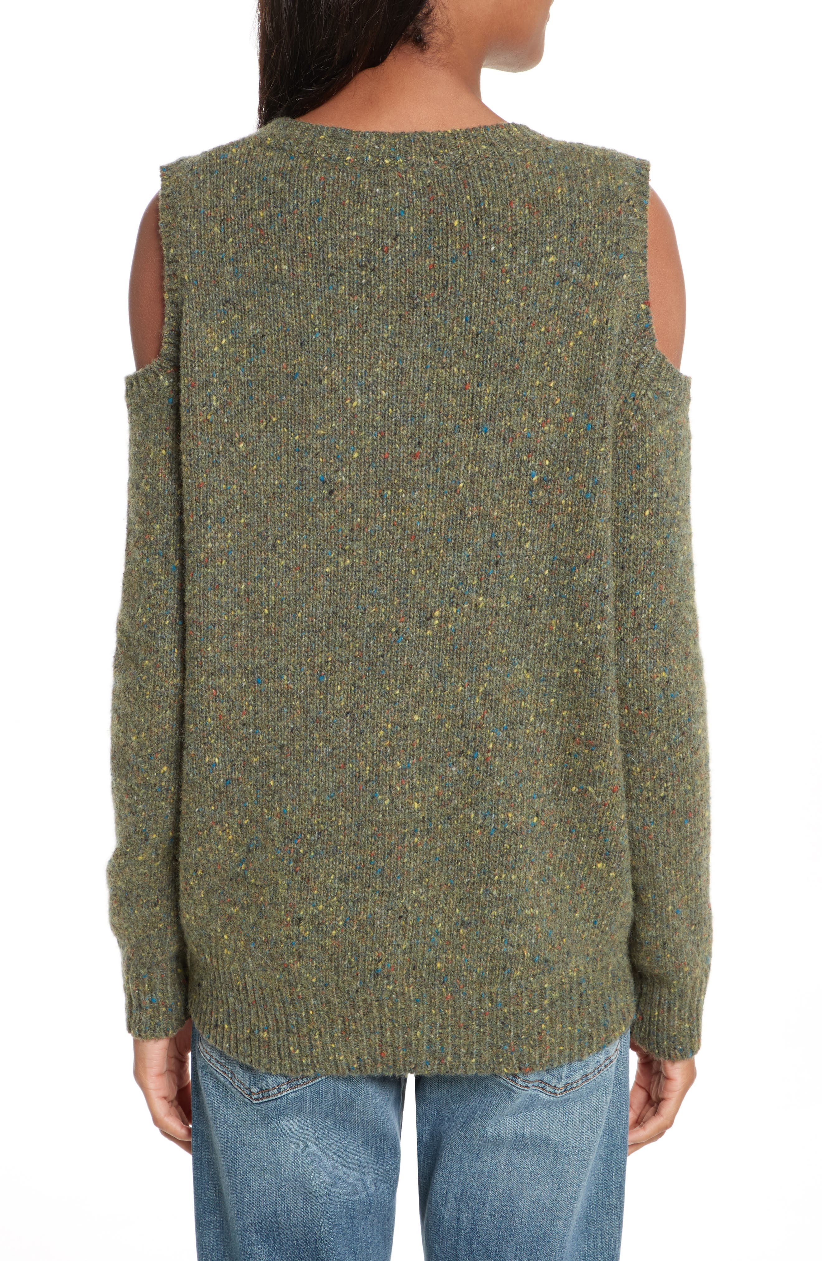 Page Cold Shoulder Sweater,                             Alternate thumbnail 11, color,