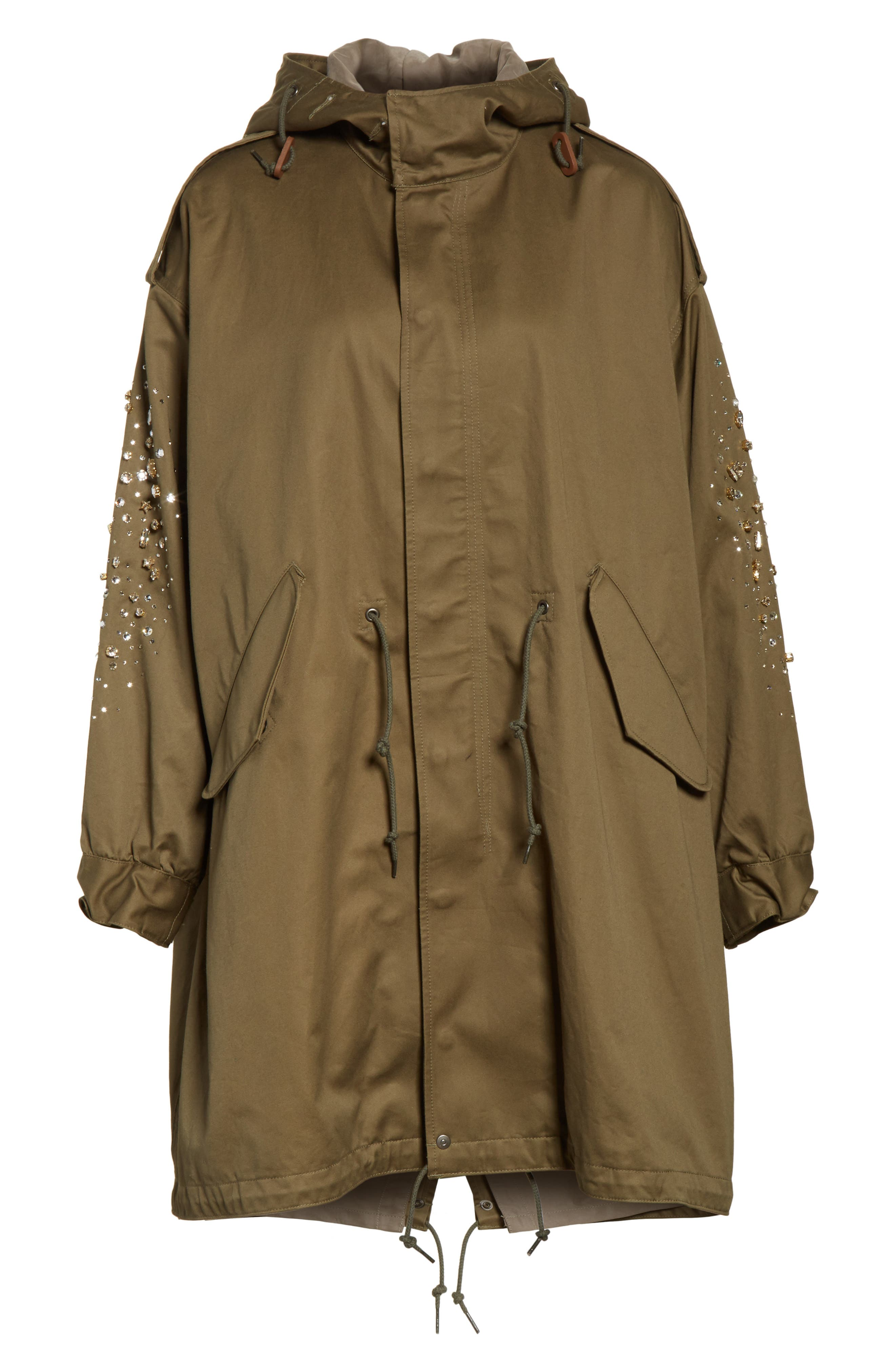 Tu es mon TRESOR Stardust Elbow Parka,                             Alternate thumbnail 5, color,                             KHAKI KHAK