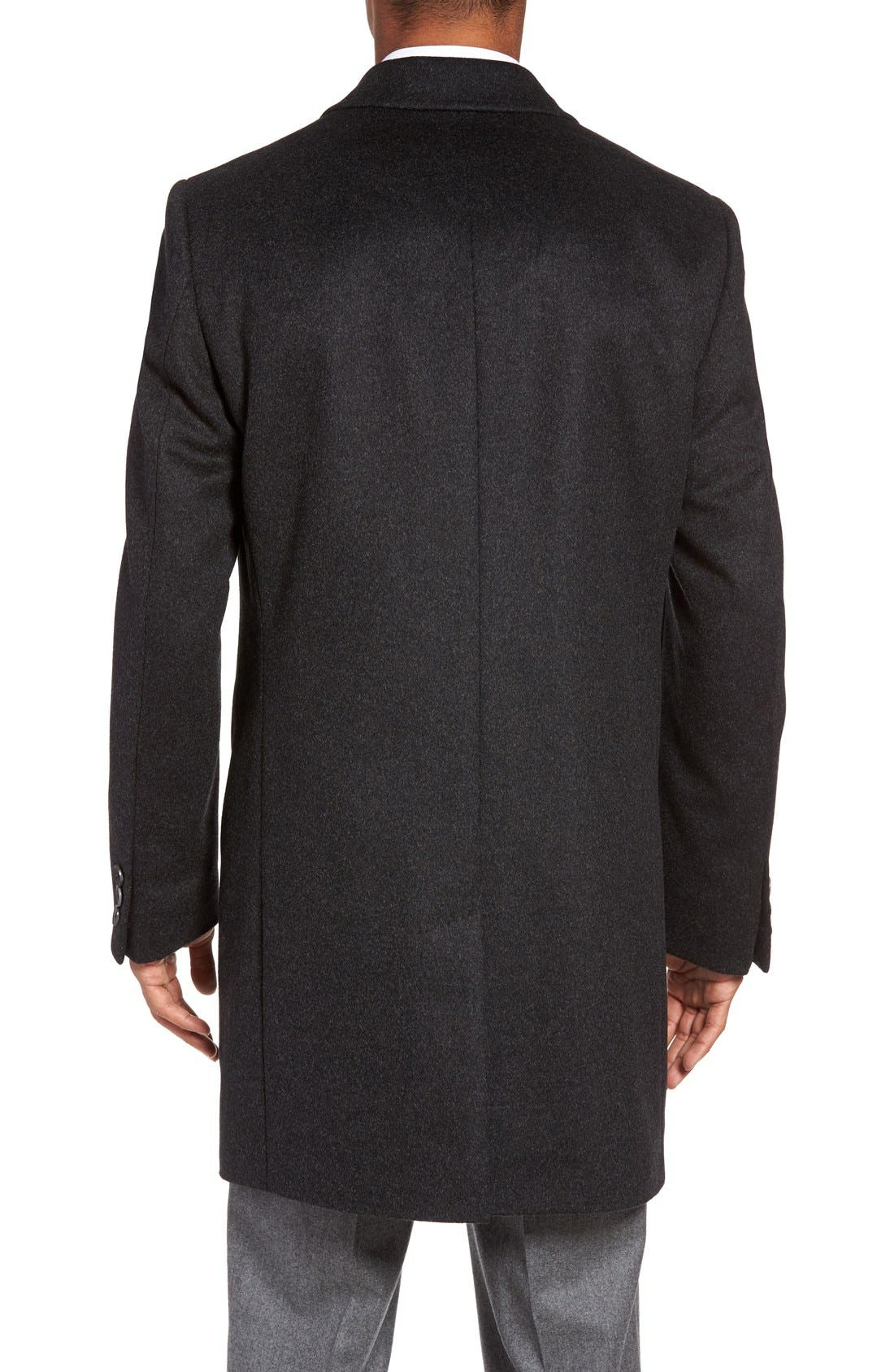 BOSS The Stratus Wool & Cashmere Overcoat,                             Alternate thumbnail 2, color,                             010