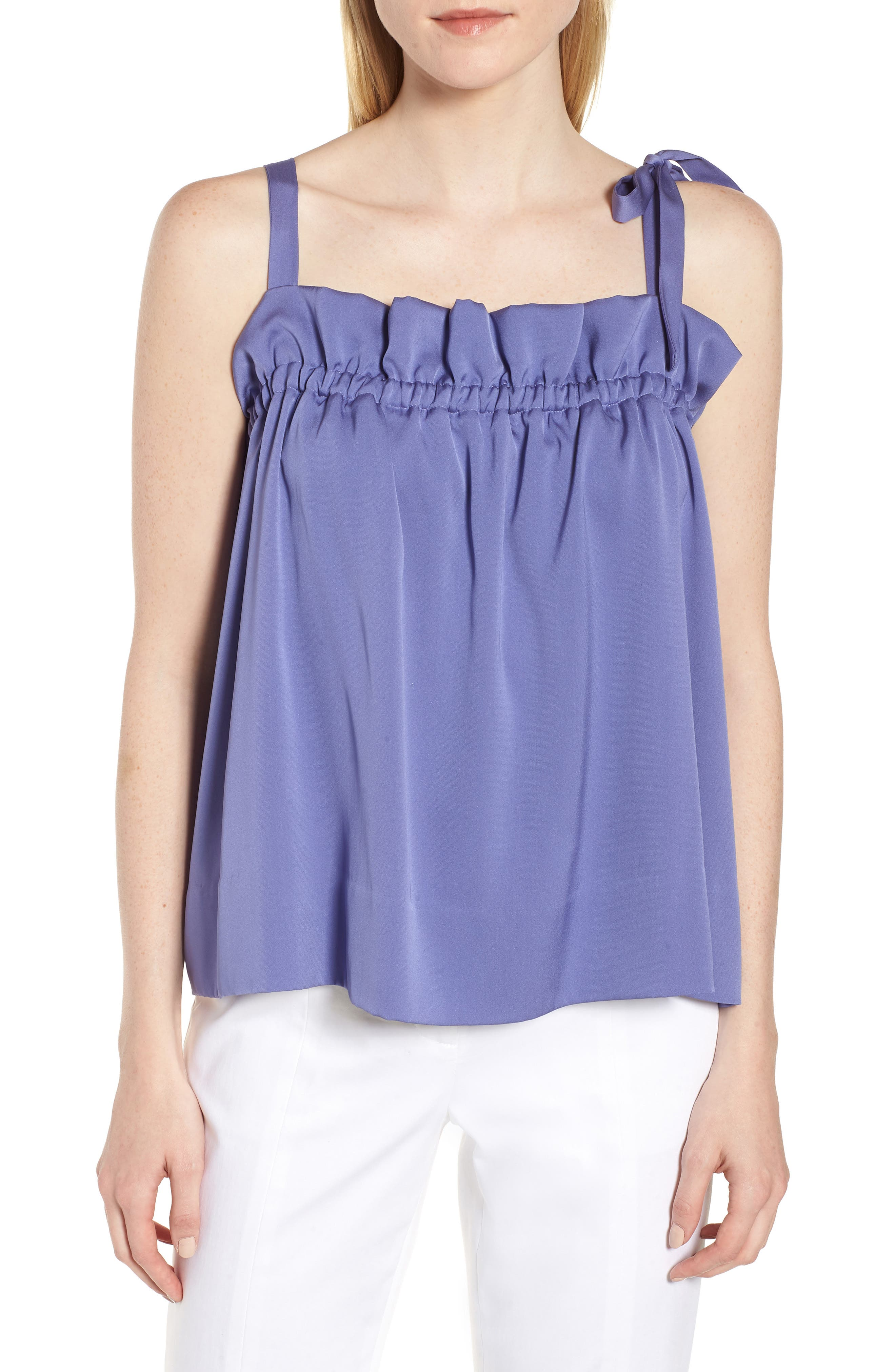 Tie Strap Stretch Silk Camisole,                             Main thumbnail 1, color,                             510