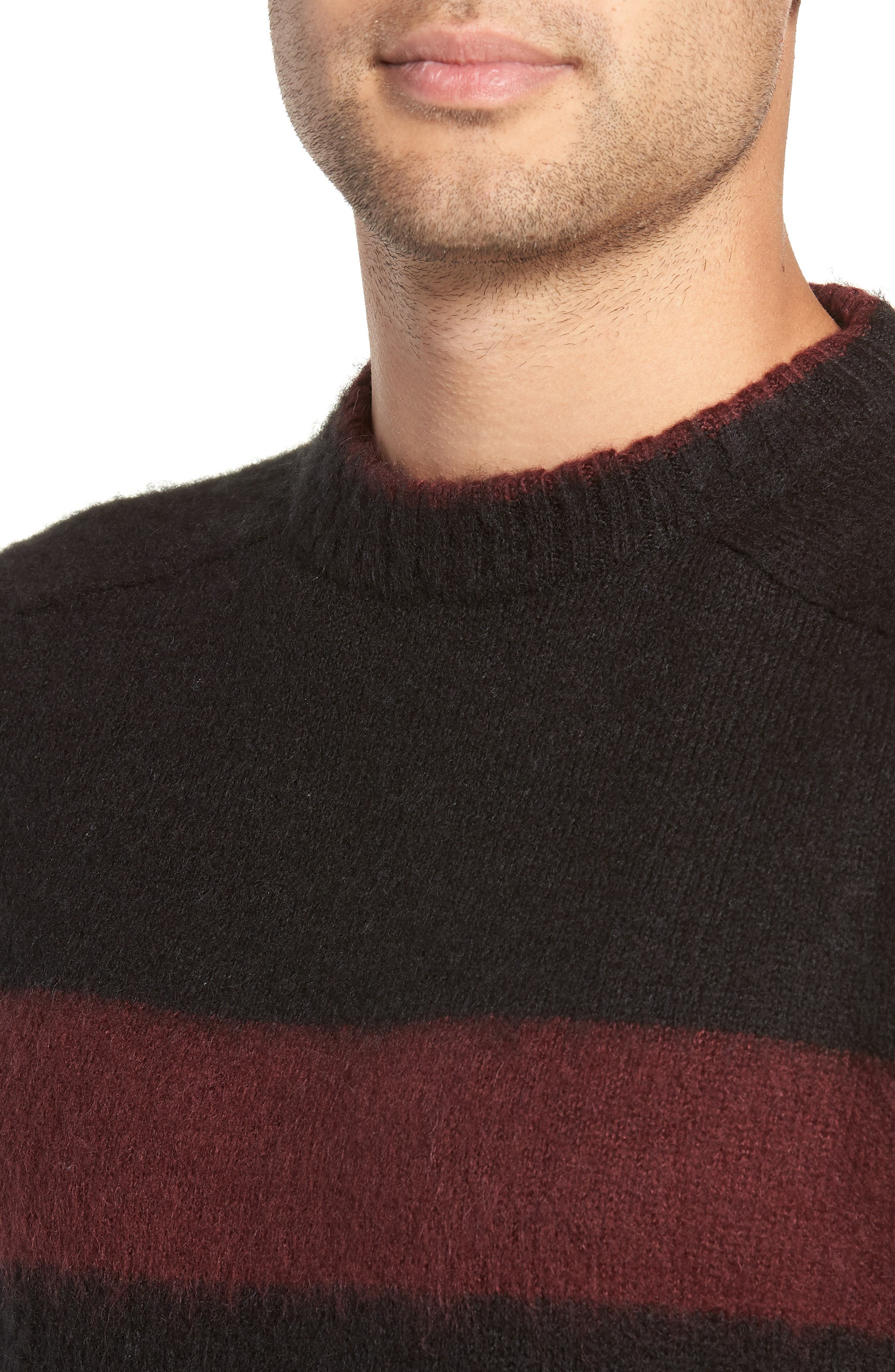 Colorblock Sweater,                             Alternate thumbnail 4, color,                             BLACK