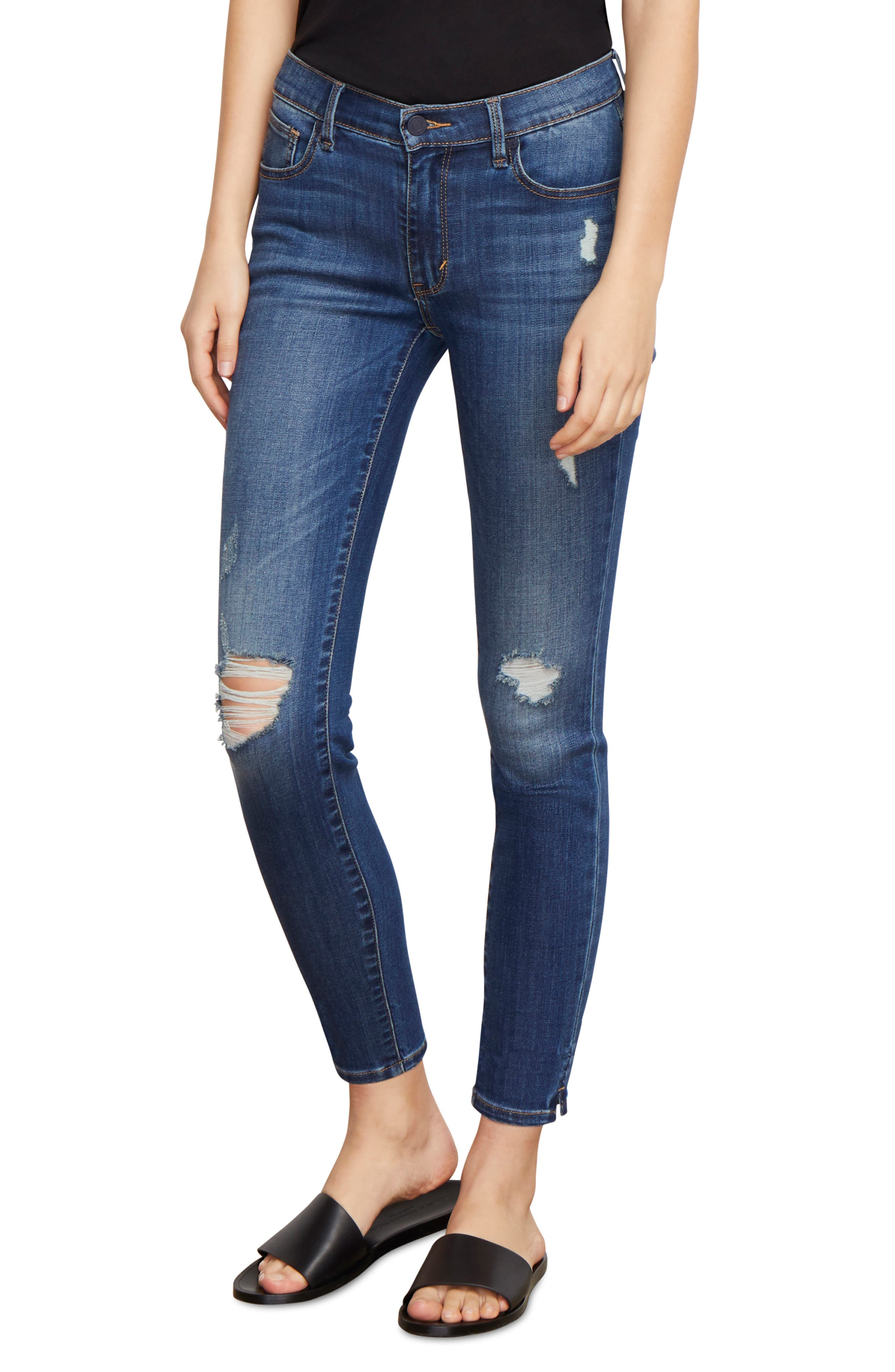 Marina Ankle Skinny Jeans,                             Main thumbnail 1, color,                             CABACHON