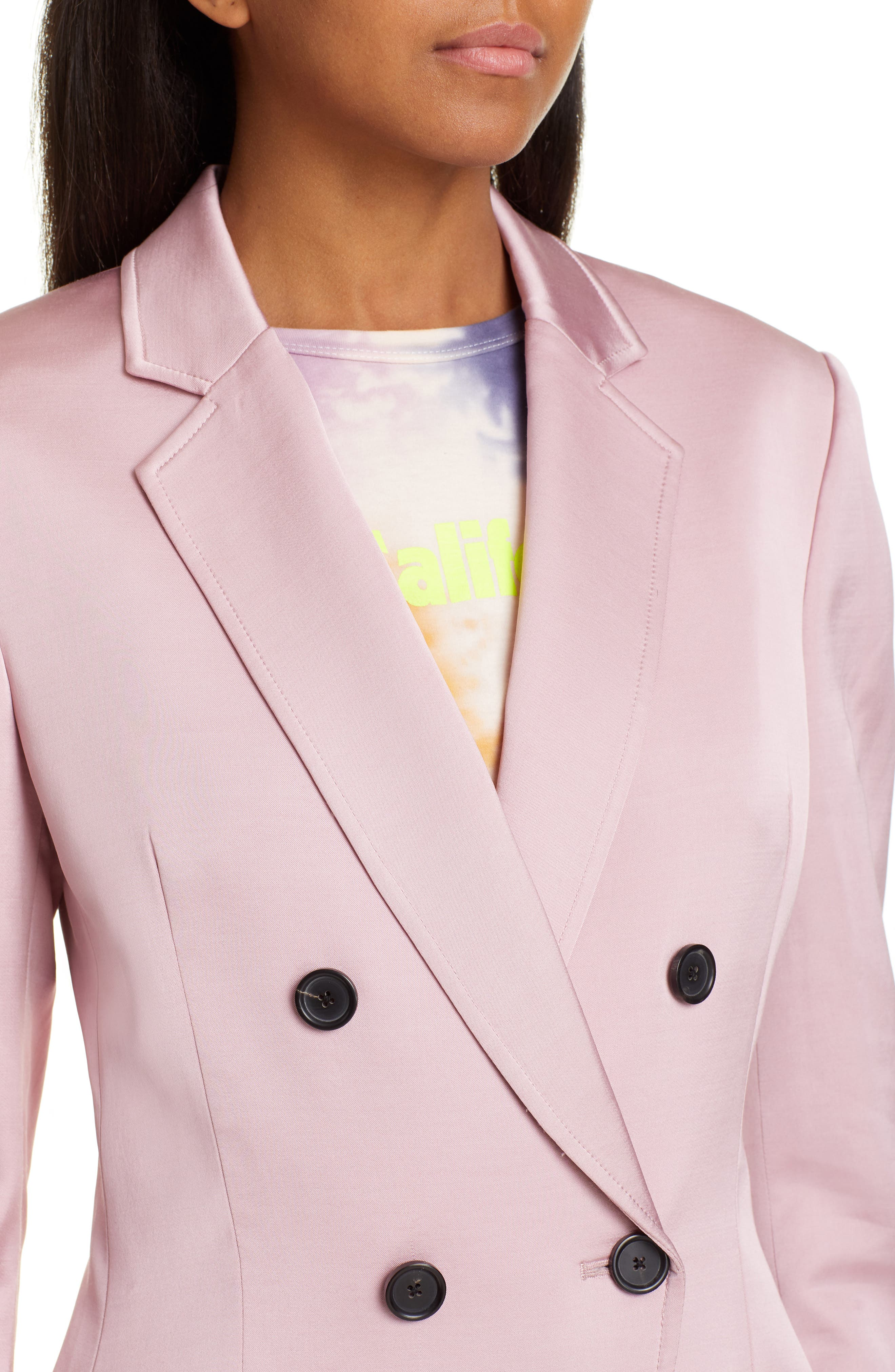 A.L.C.,                             Sedgewick Double Breasted Suiting Jacket,                             Alternate thumbnail 4, color,                             DUSTY ROSE