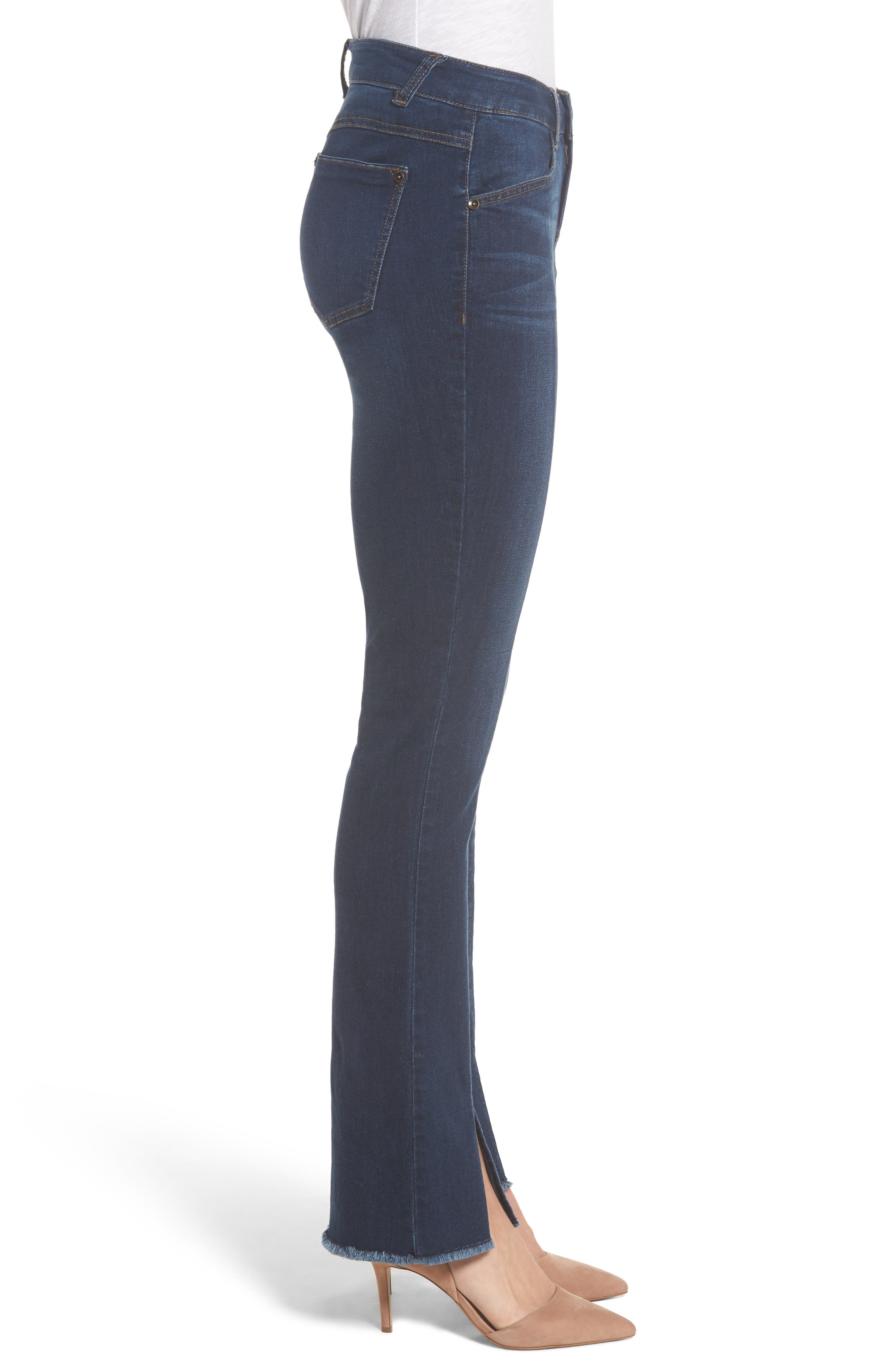 Itty Bitty Split Hem Bootcut Jeans,                             Alternate thumbnail 3, color,