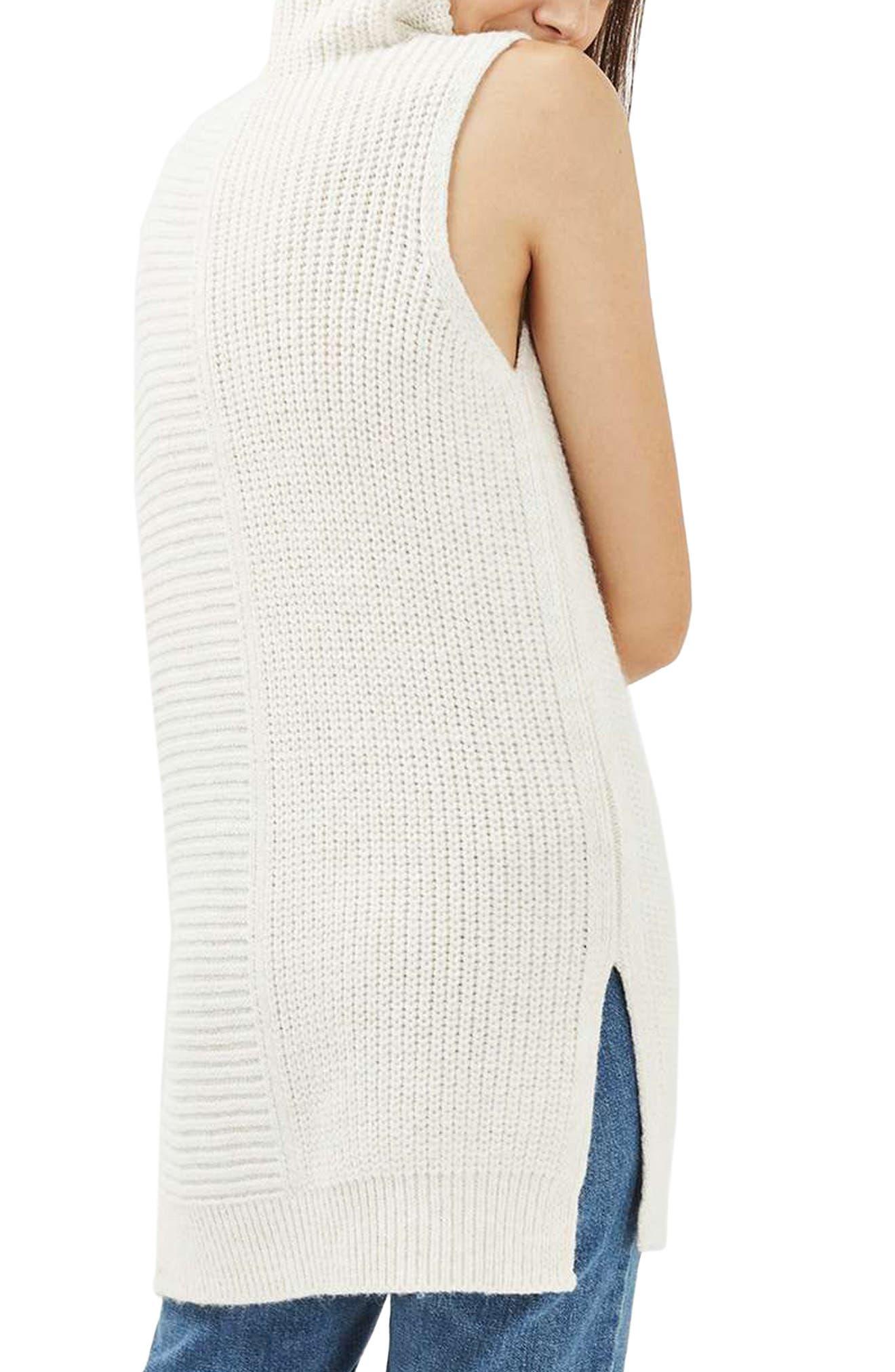 Sleeveless Turtleneck Sweater,                             Alternate thumbnail 2, color,                             900