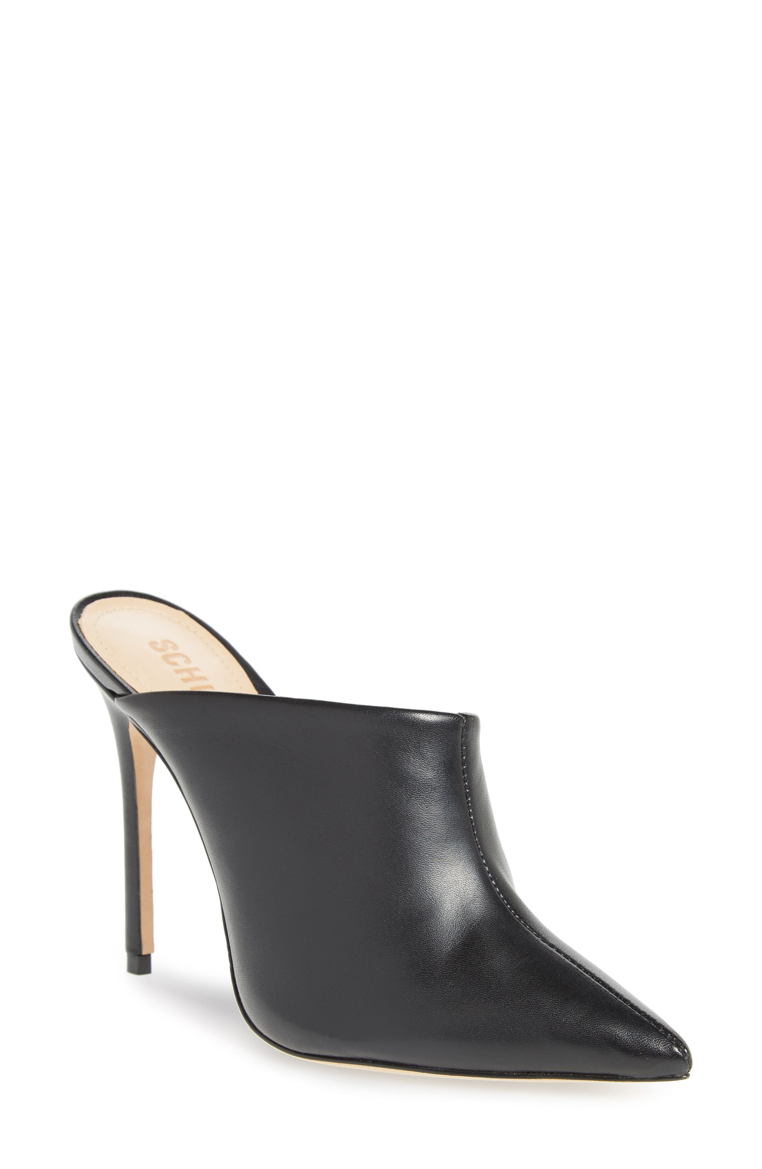 Quincy Stiletto Mule,                             Main thumbnail 1, color,                             BLACK