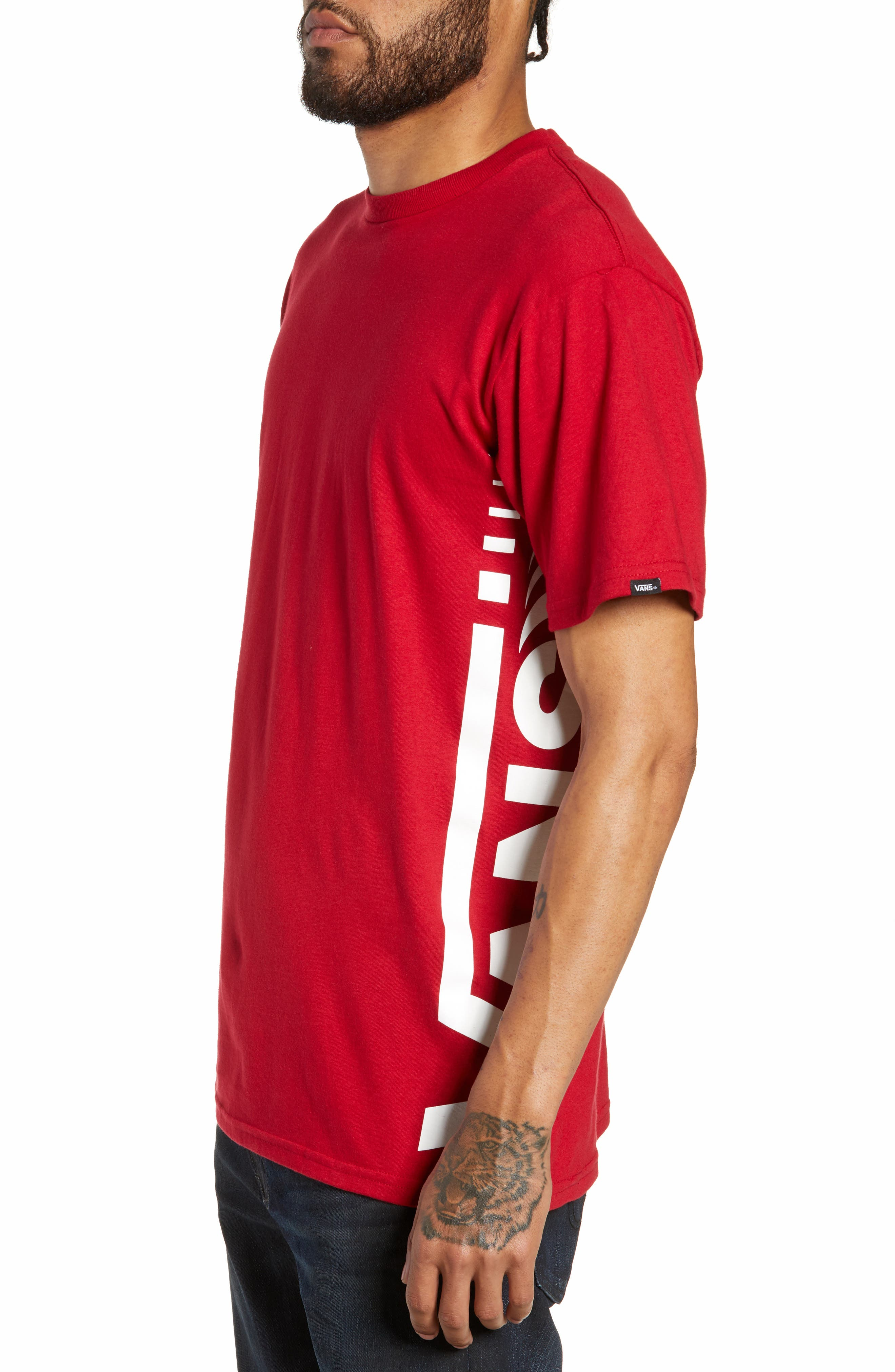 Distorted Short Sleeve T-Shirt,                             Alternate thumbnail 3, color,                             CARDINAL