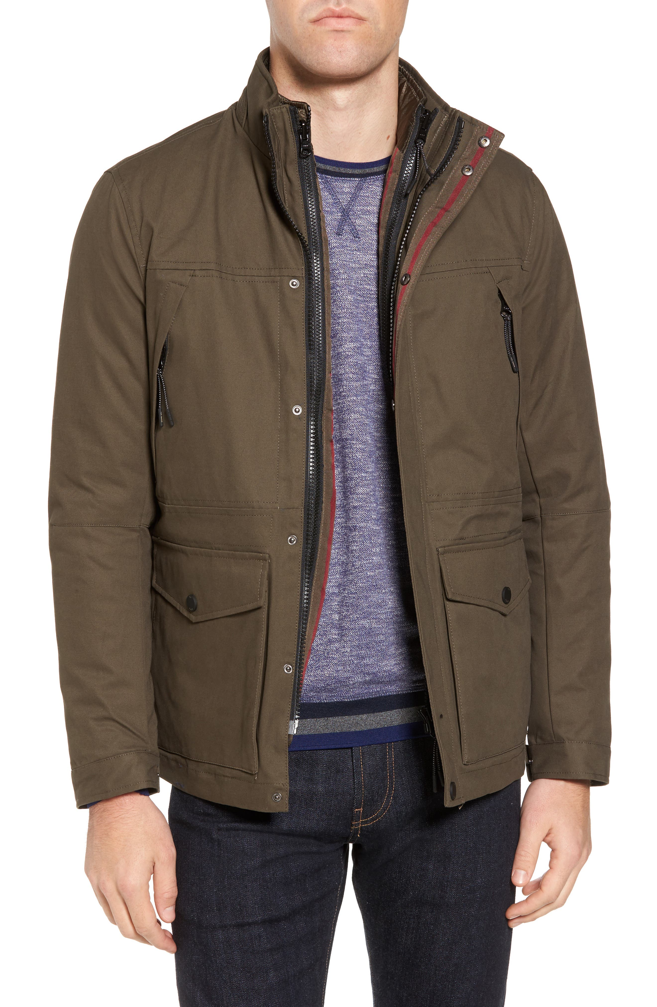 Nilson Trim Fit Quilted Field Jacket,                             Main thumbnail 1, color,                             312