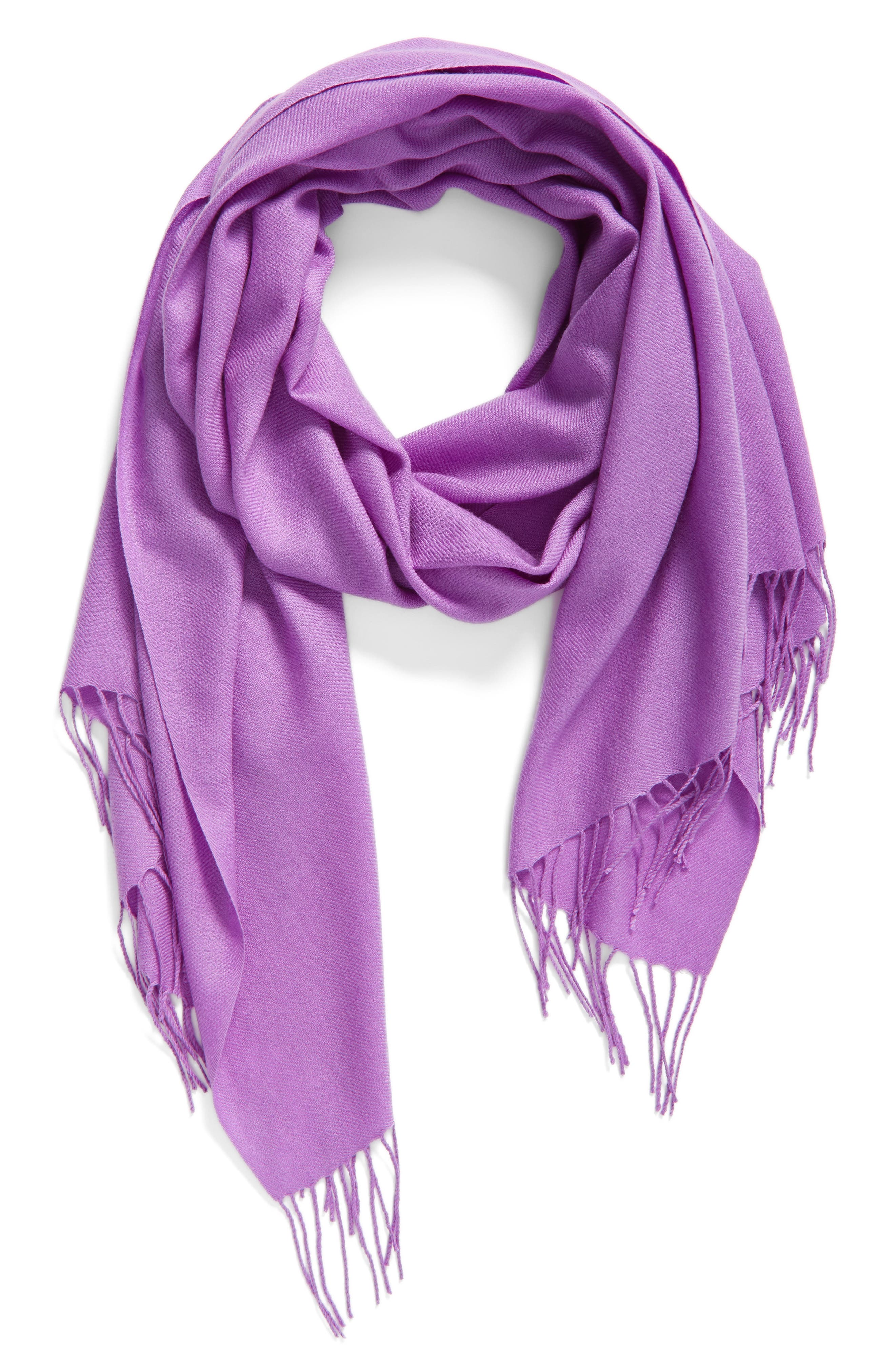 Tissue Weight Wool & Cashmere Scarf,                             Main thumbnail 54, color,