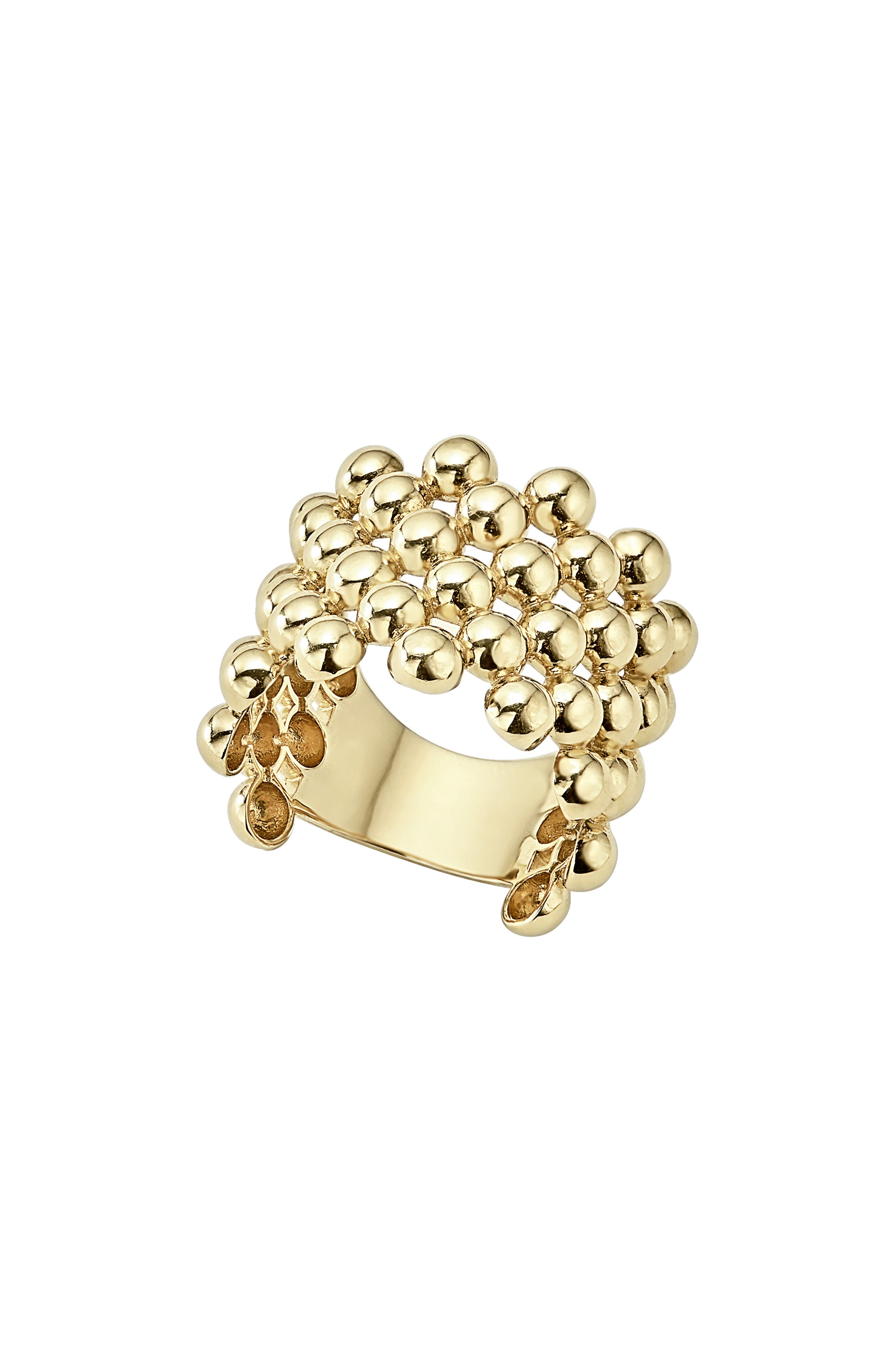 Caviar Gold Wide Band Ring,                         Main,                         color, GOLD