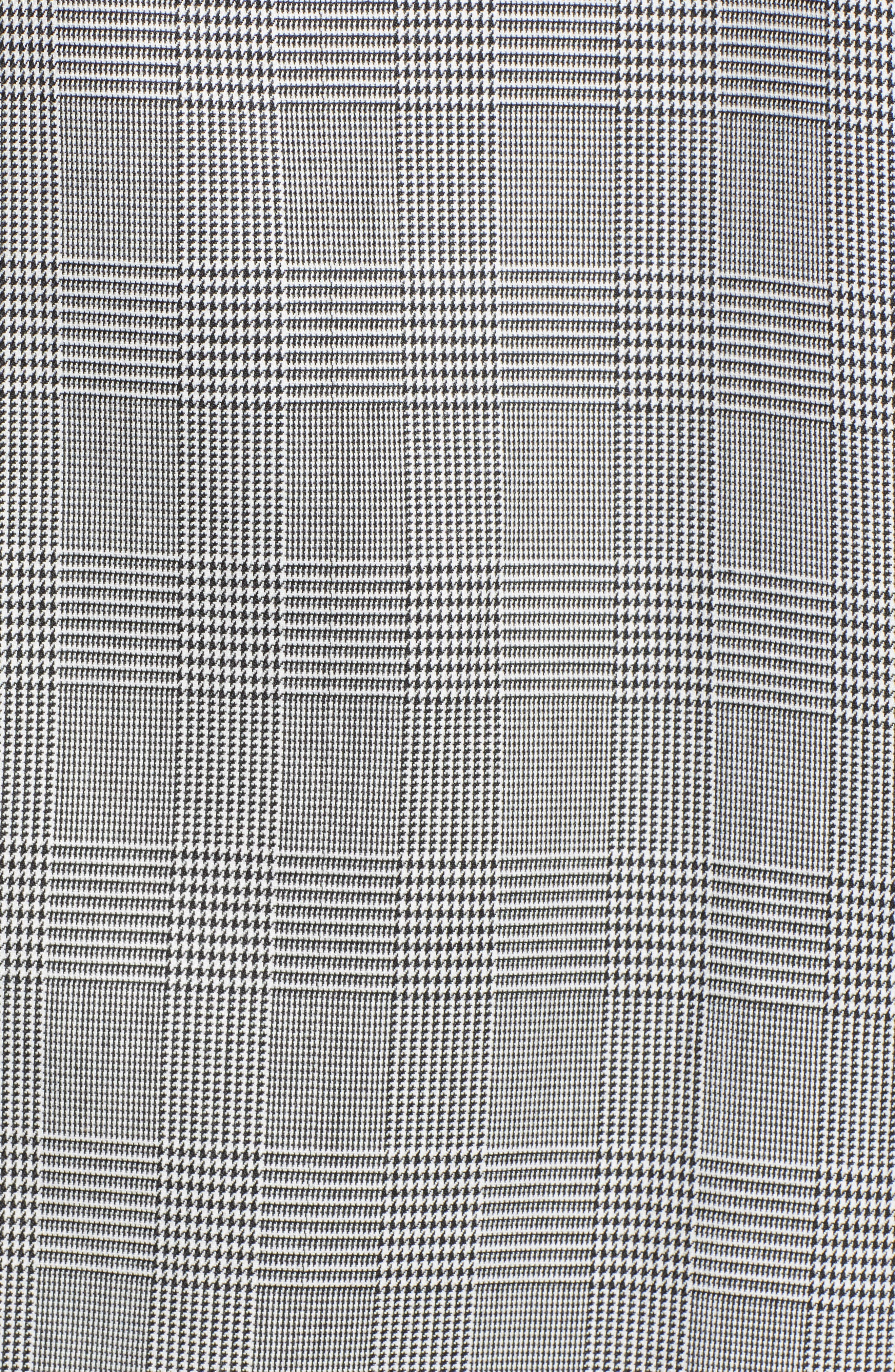 Longline Glen Plaid Blazer,                             Alternate thumbnail 7, color,                             001