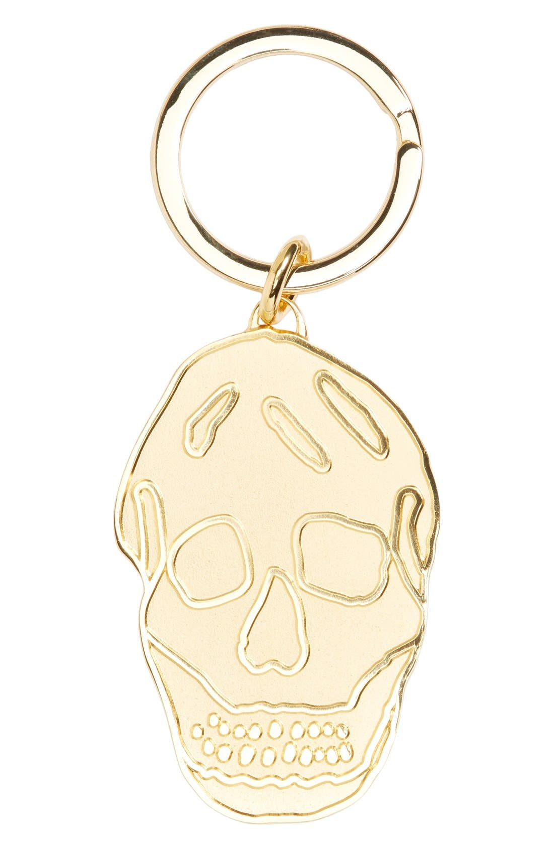 Brass Skull Key Ring,                         Main,                         color, 712