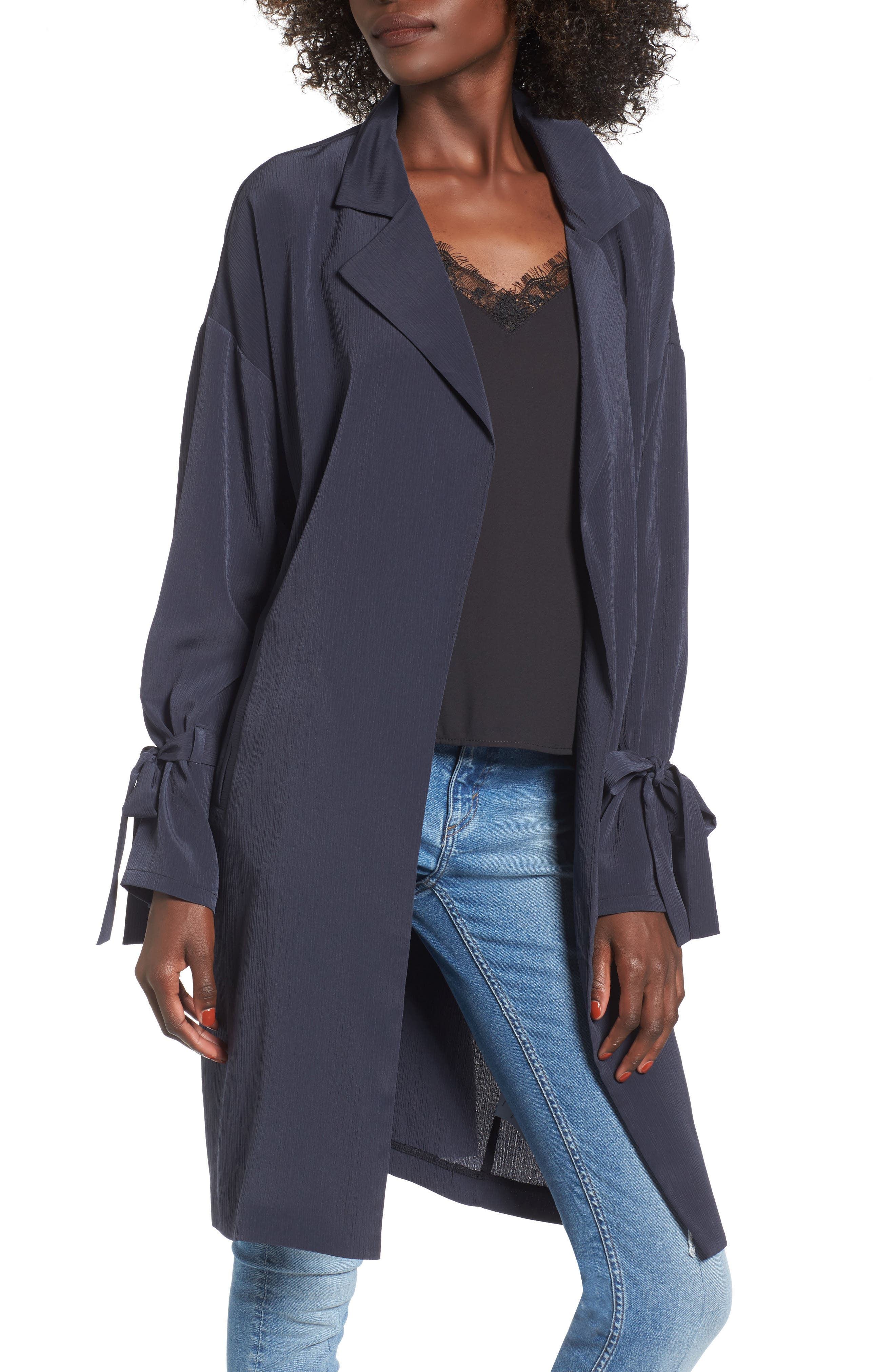 Tie Sleeve Jacket,                             Main thumbnail 1, color,