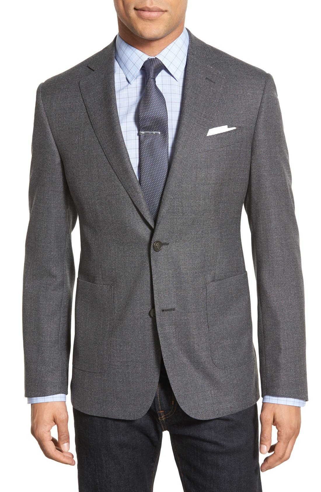 Classic Fit Hopsack Wool Blazer, Main, color, 020