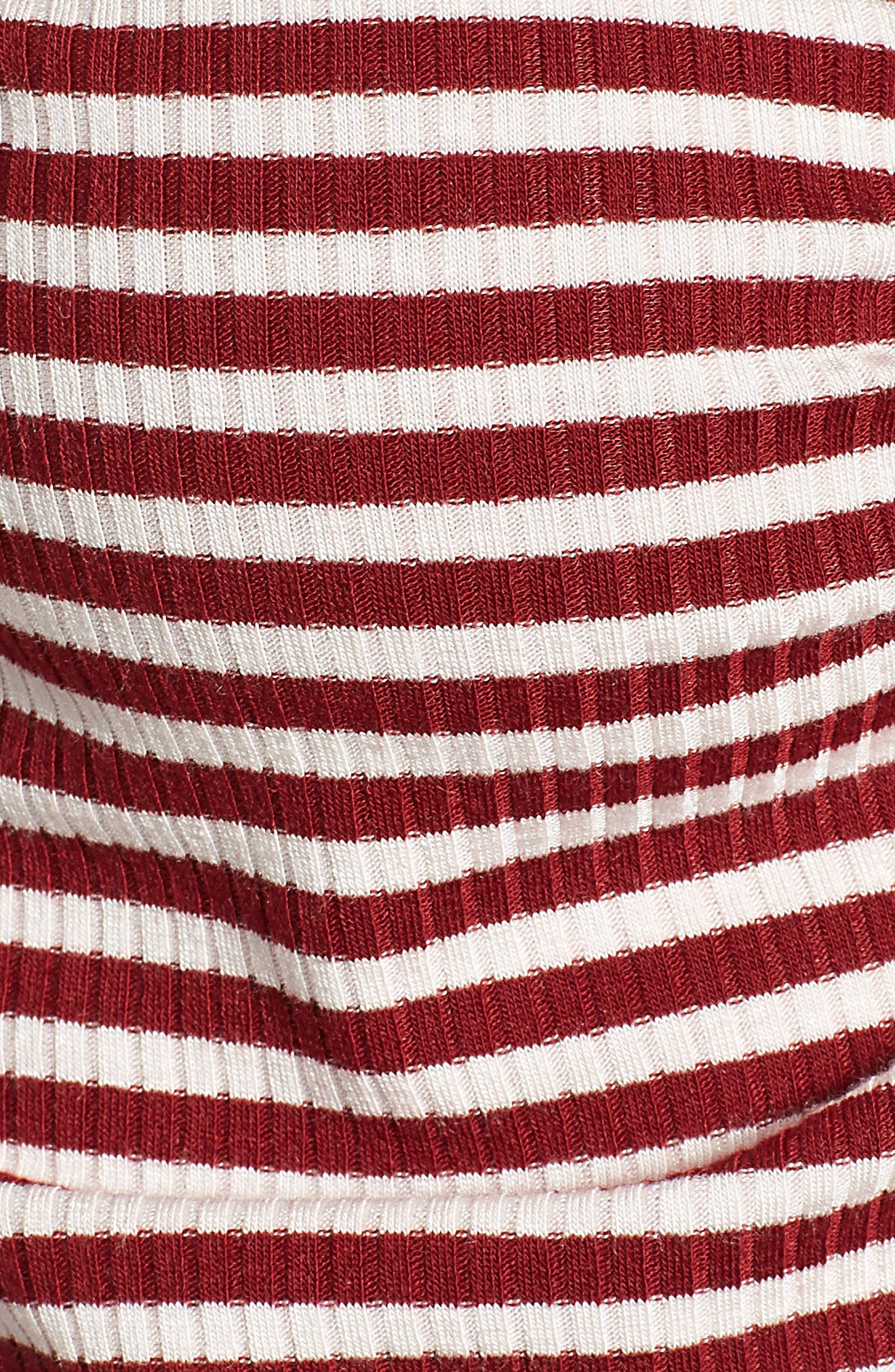 Stripe Ruched Tee,                             Alternate thumbnail 5, color,                             930