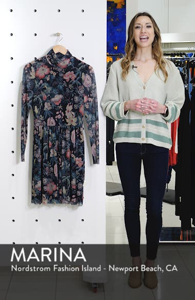 Faded Garden Funnel Neck Dress, sales video thumbnail