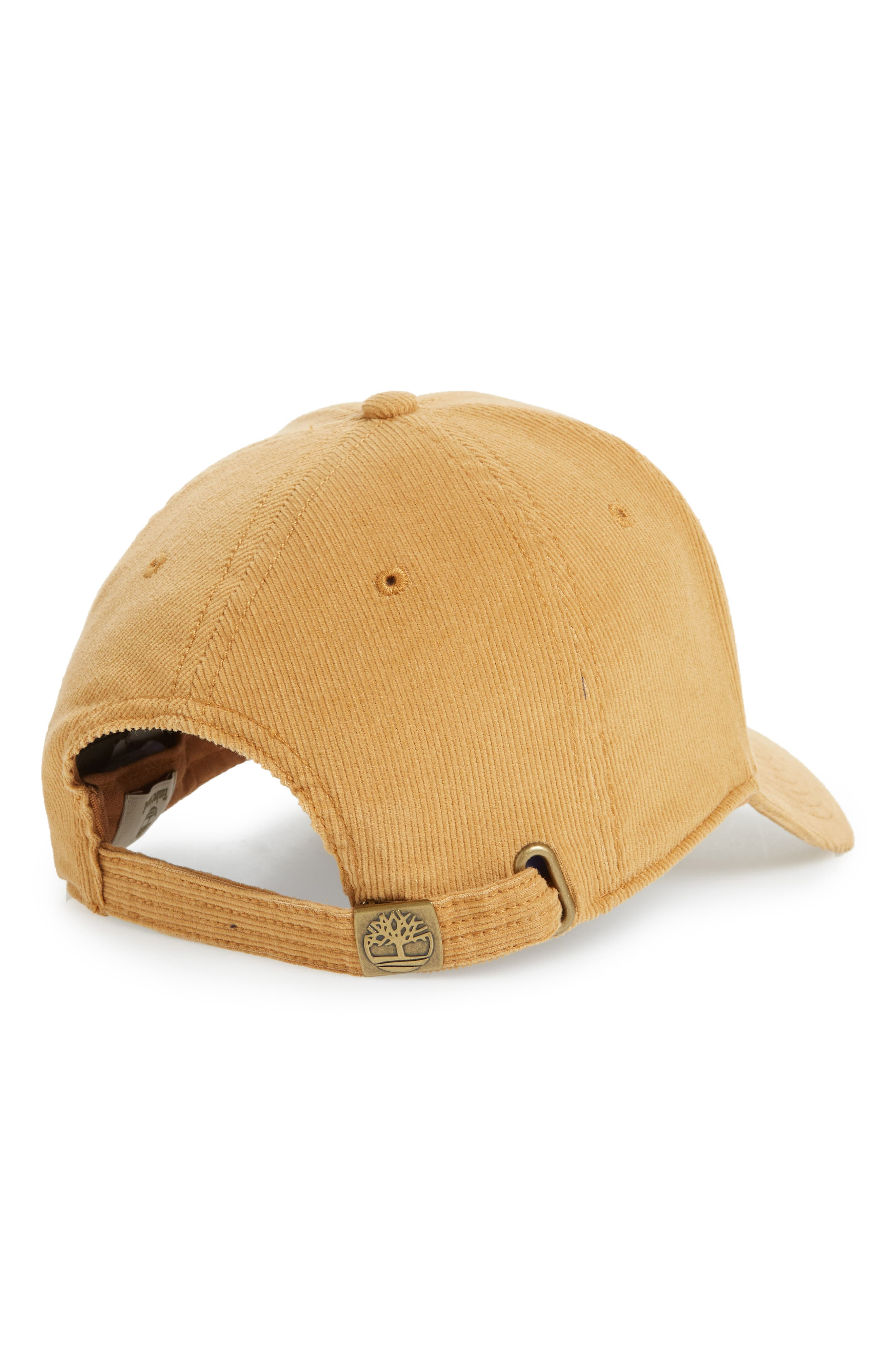 TIMBERLAND,                             Logo Embroidered Corduroy Ball Cap,                             Alternate thumbnail 2, color,                             WHEAT