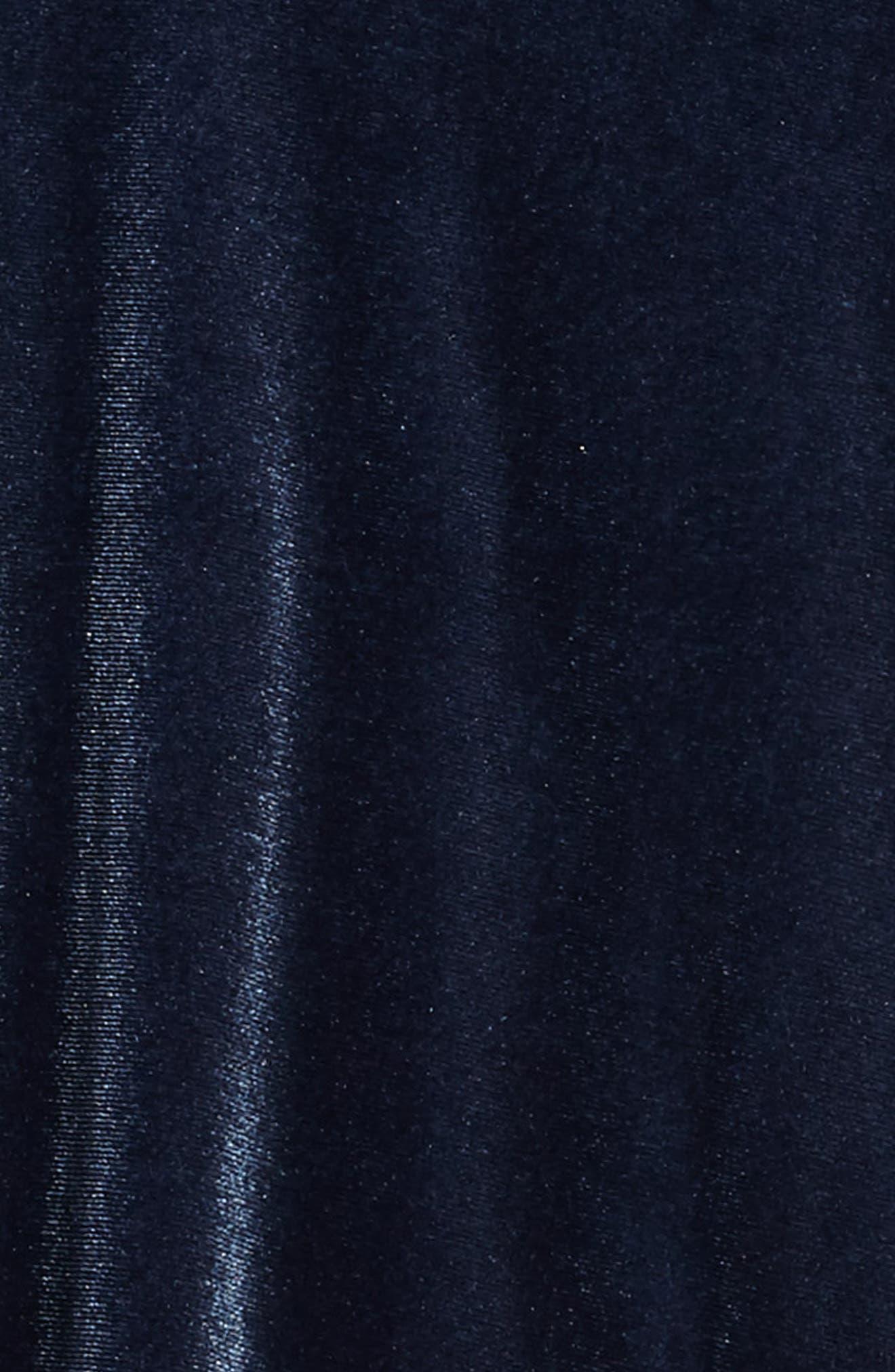 Velour Shift Dress,                             Alternate thumbnail 3, color,                             408
