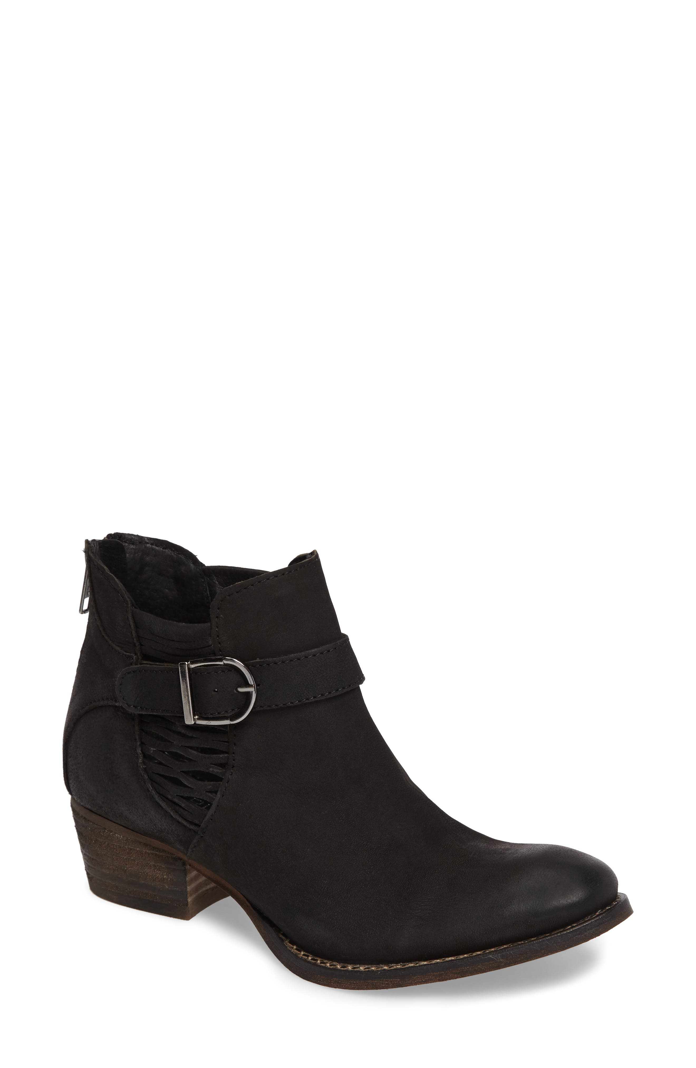 Yara Perforated Chelsea Bootie,                         Main,                         color, 001