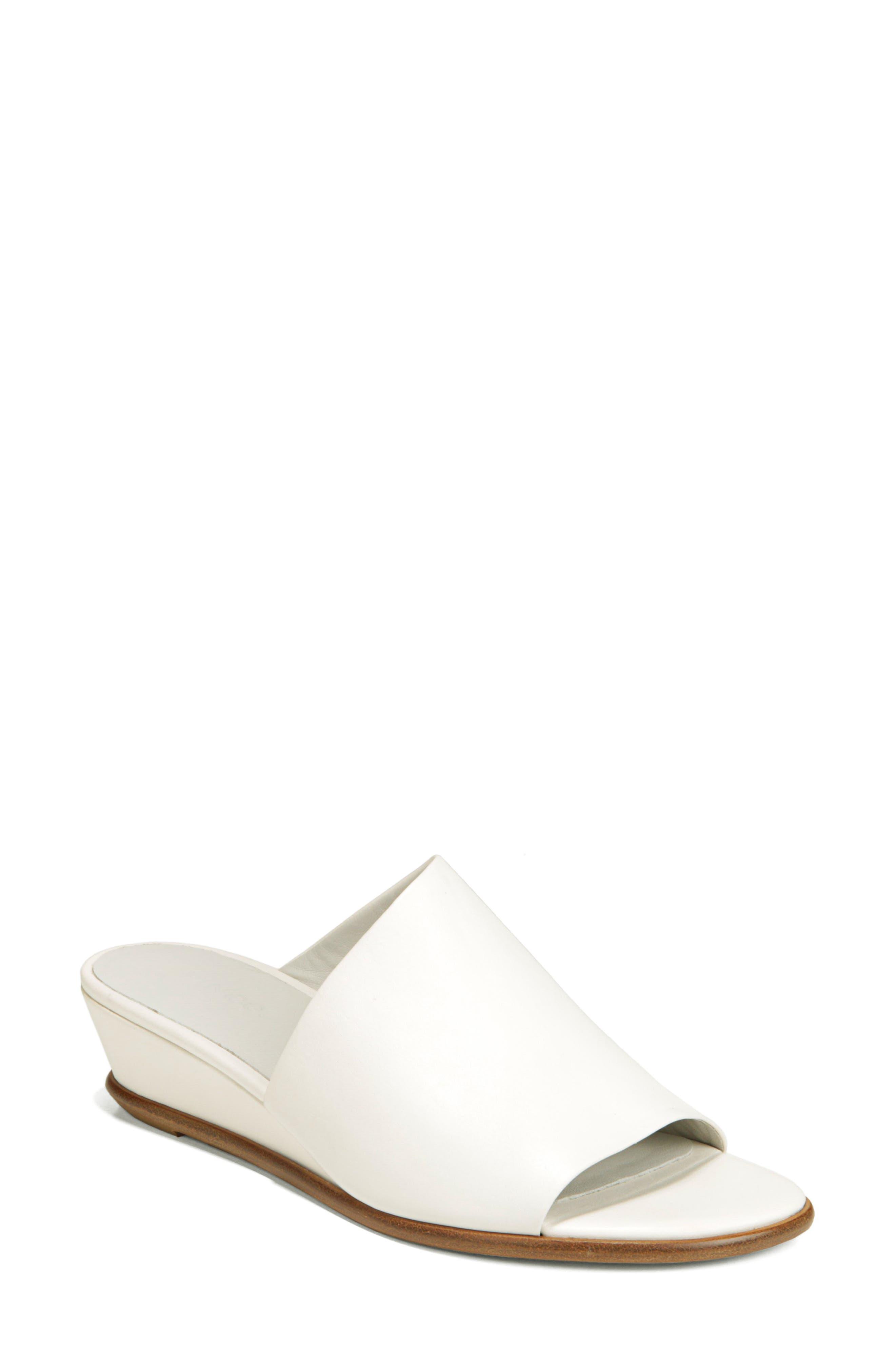VINCE,                             Duvall Asymmetrical Wedge Sandal,                             Main thumbnail 1, color,                             OFF WHITE