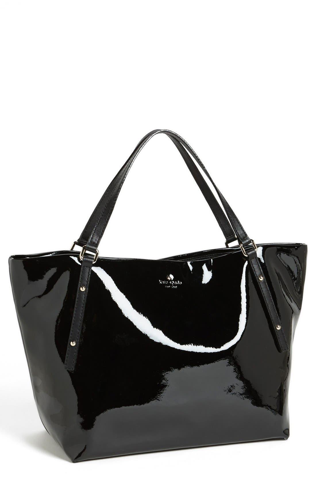 'jackson square - sophie' patent leather tote, large,                             Main thumbnail 1, color,                             001