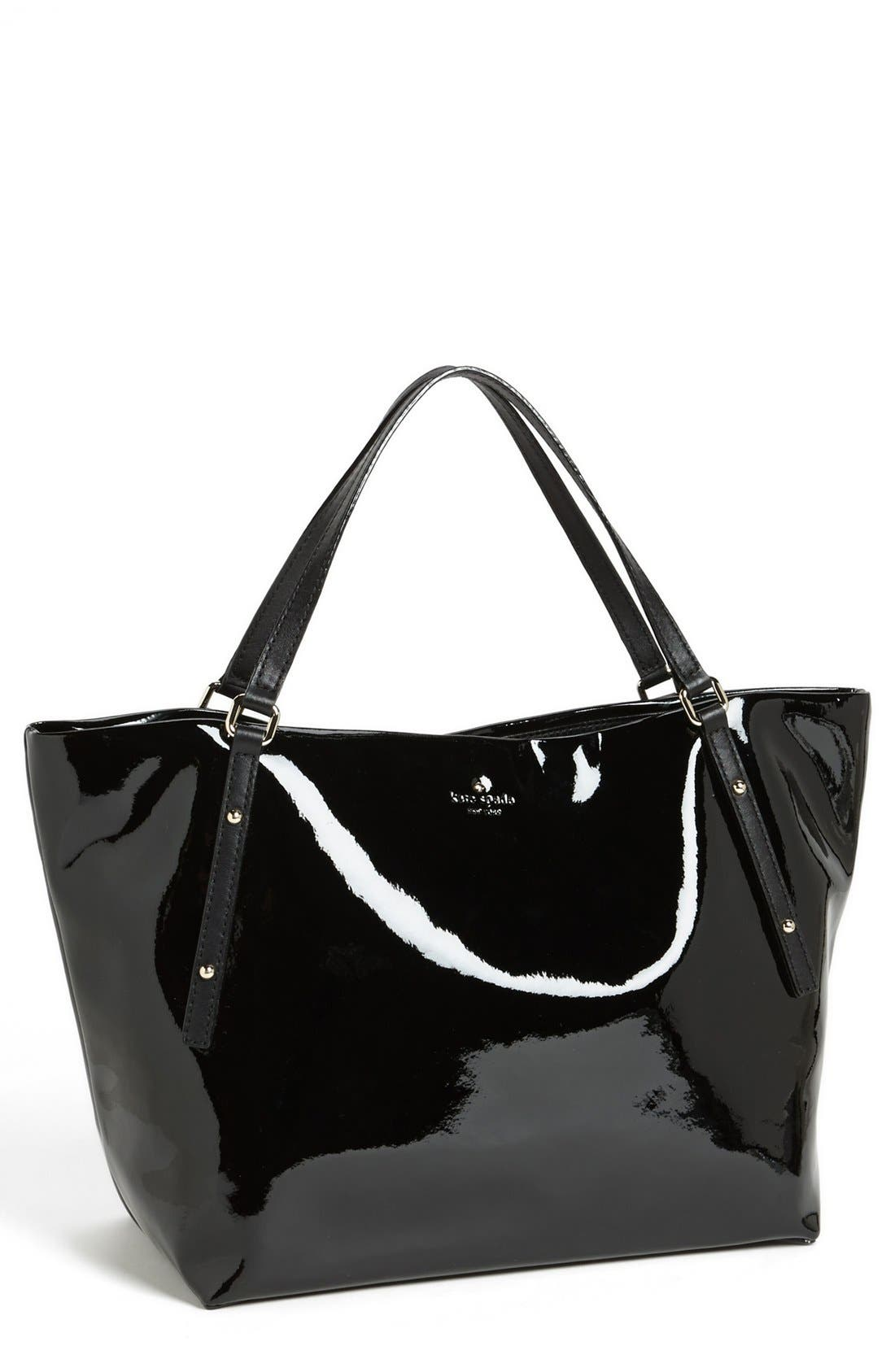 'jackson square - sophie' patent leather tote, large,                         Main,                         color, 001