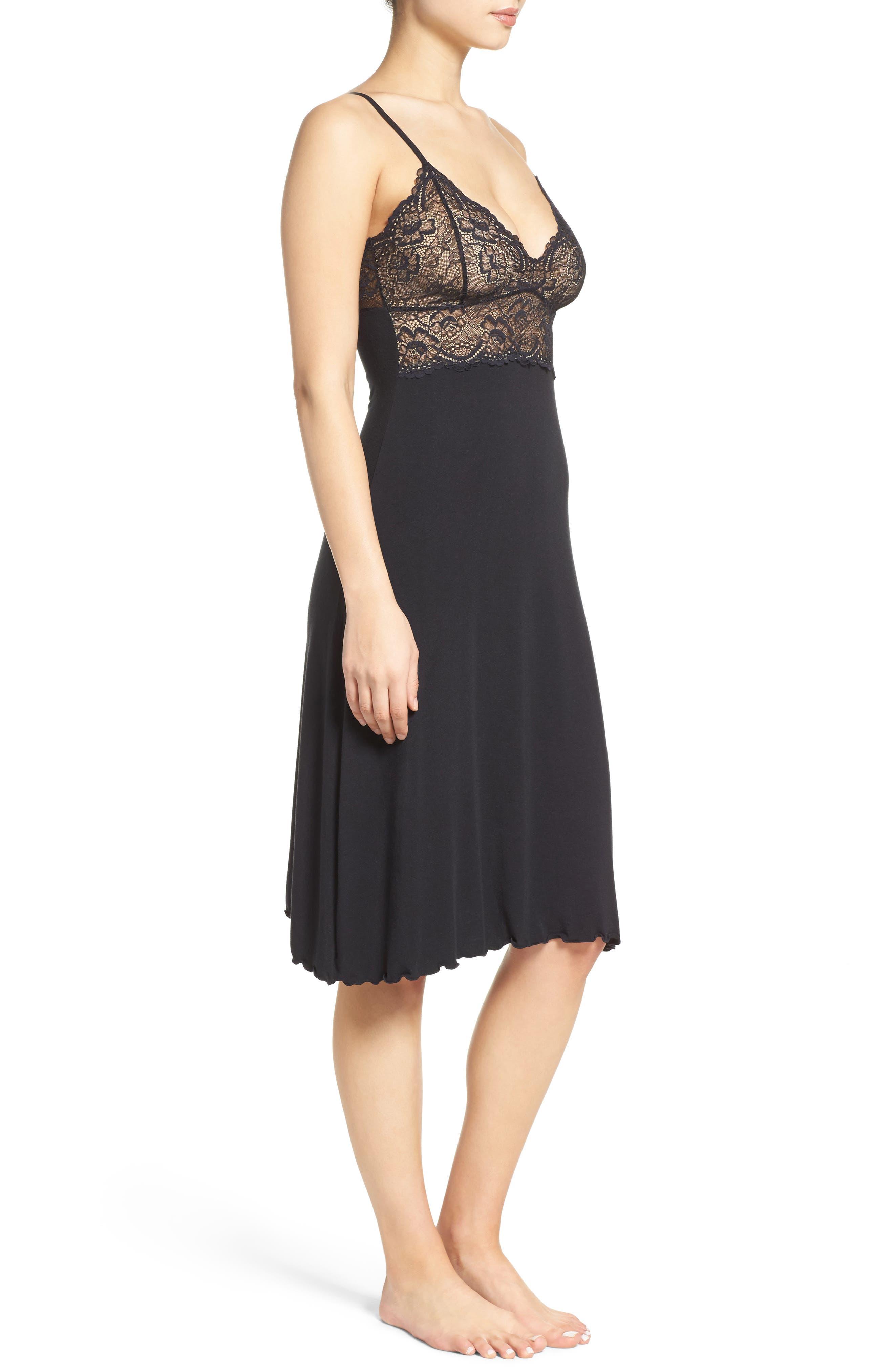 Ballet Nightgown,                             Alternate thumbnail 3, color,                             BLACK/ BLACK