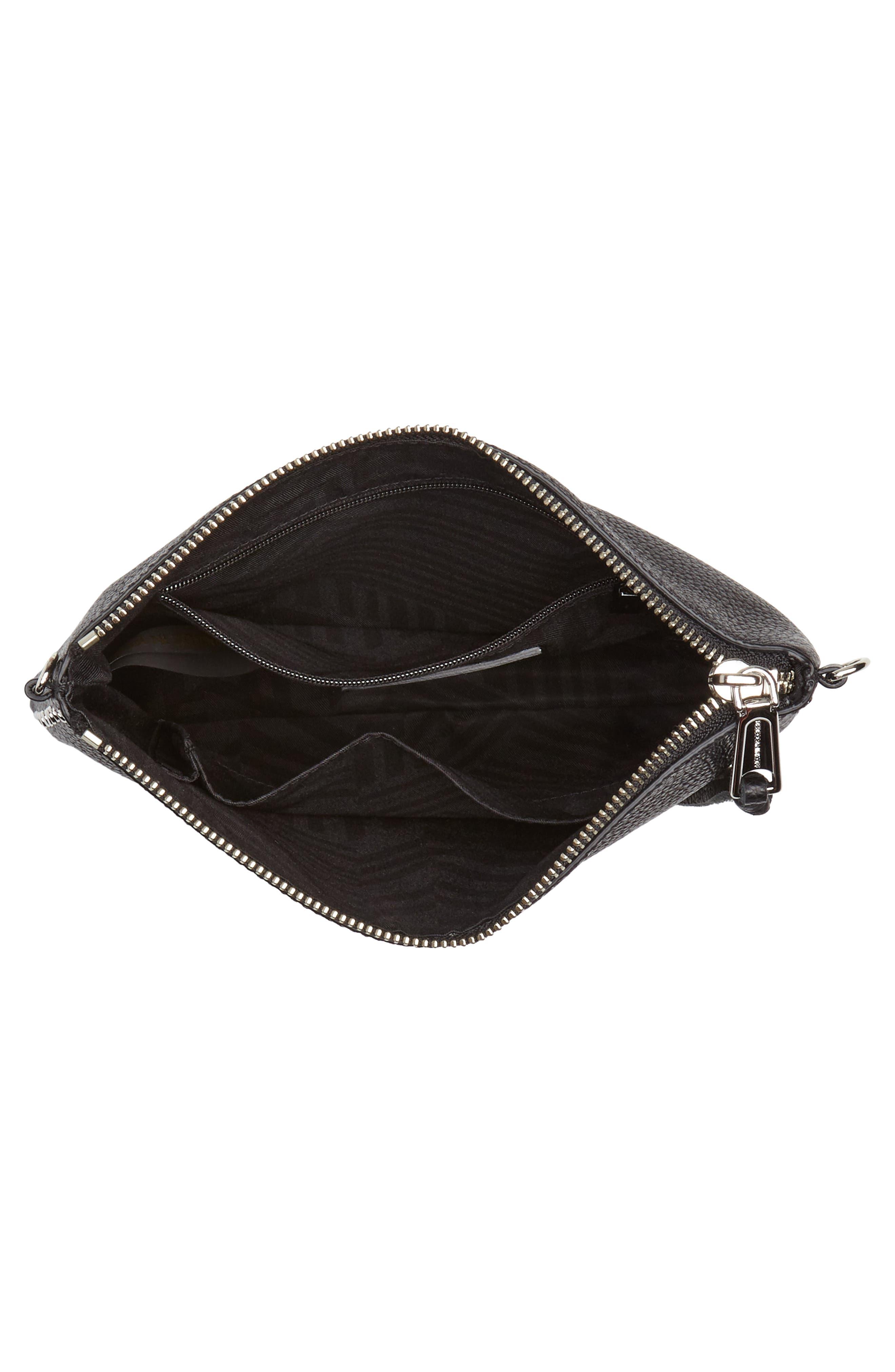 Jon Studded Leather Crossbody Bag,                             Alternate thumbnail 4, color,                             001