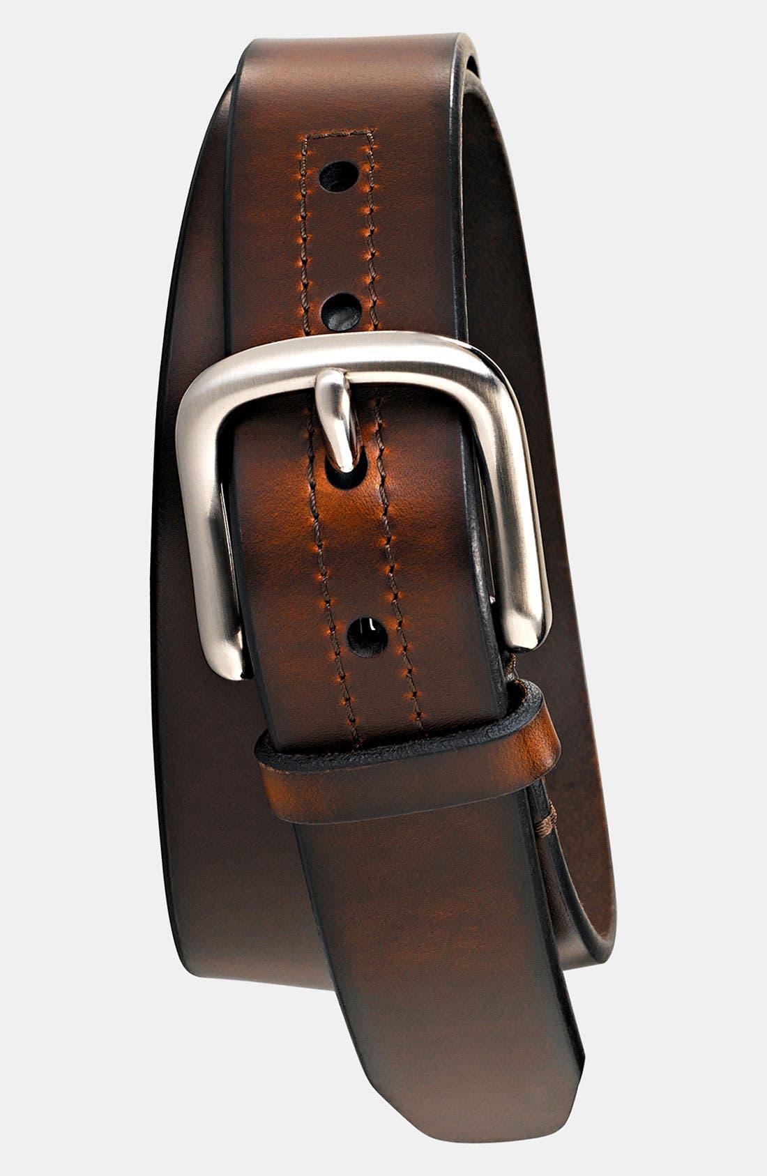 'Hanover' Leather Belt,                         Main,                         color, 200