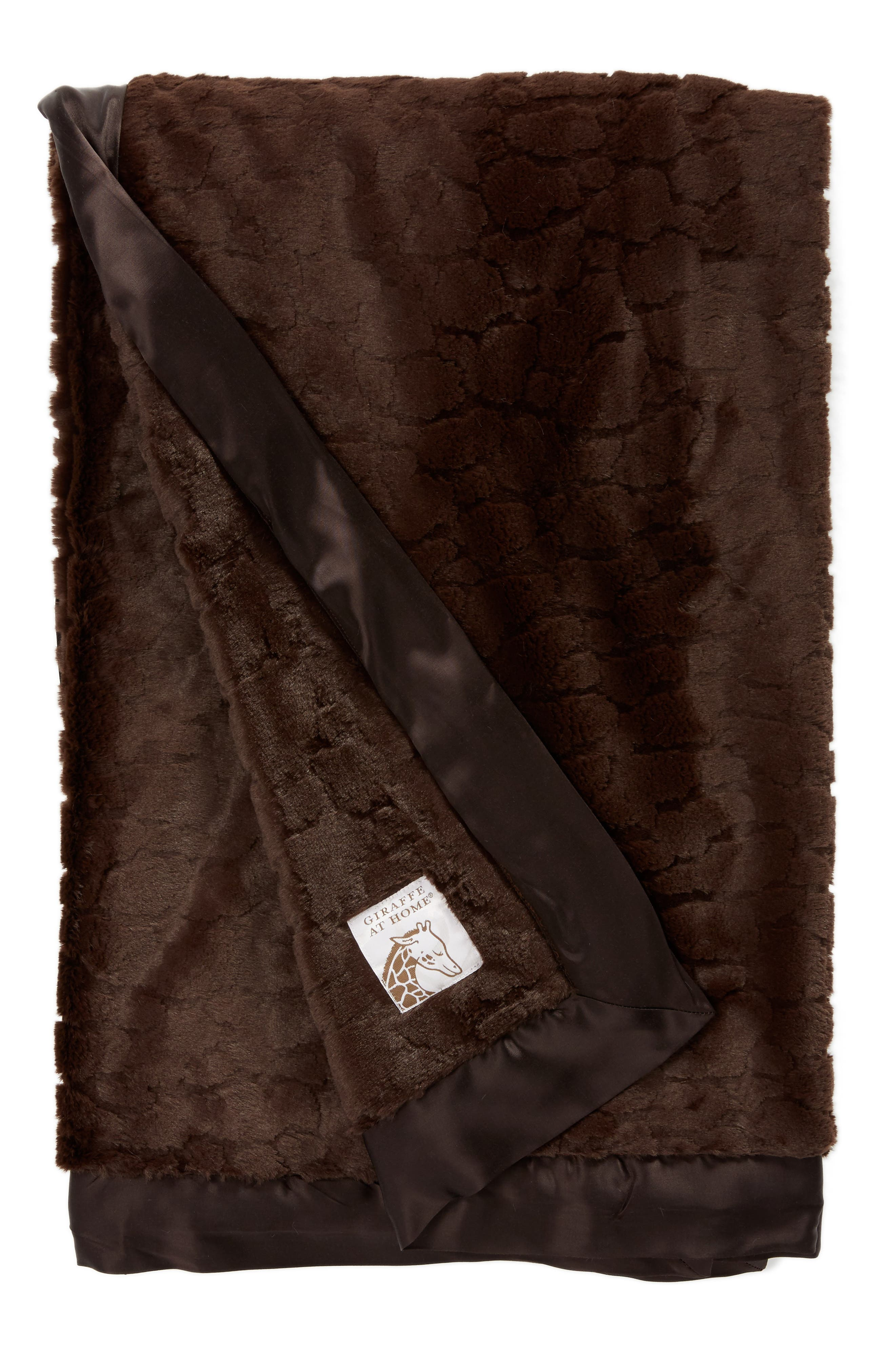 Luxe<sup>™</sup> Embossed Throw,                         Main,                         color, CHOCOLATE