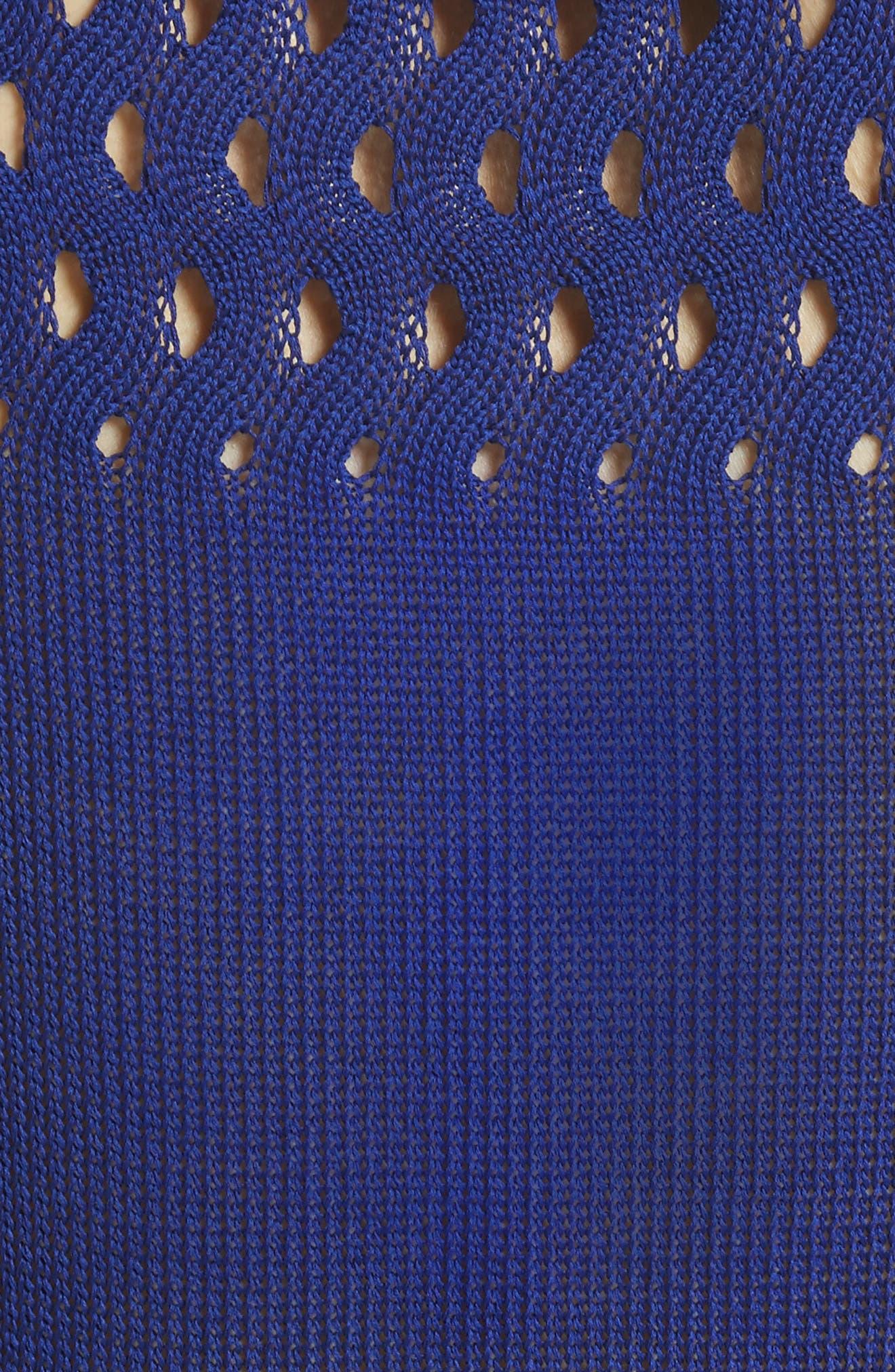 Cutout Knit Cotton Tank,                             Alternate thumbnail 5, color,