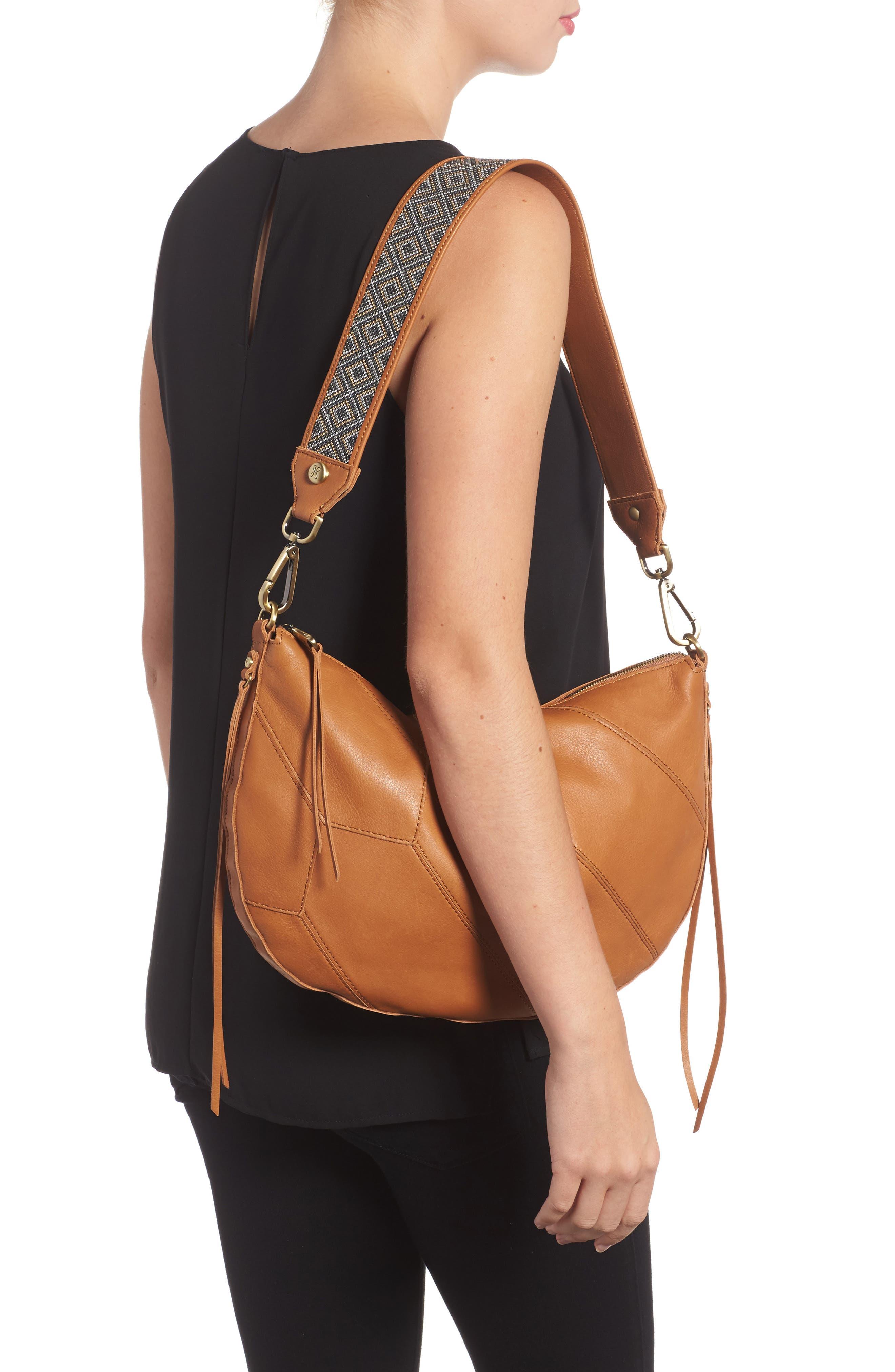 Cisco Calfskin Leather Hobo Bag,                             Alternate thumbnail 2, color,                             200