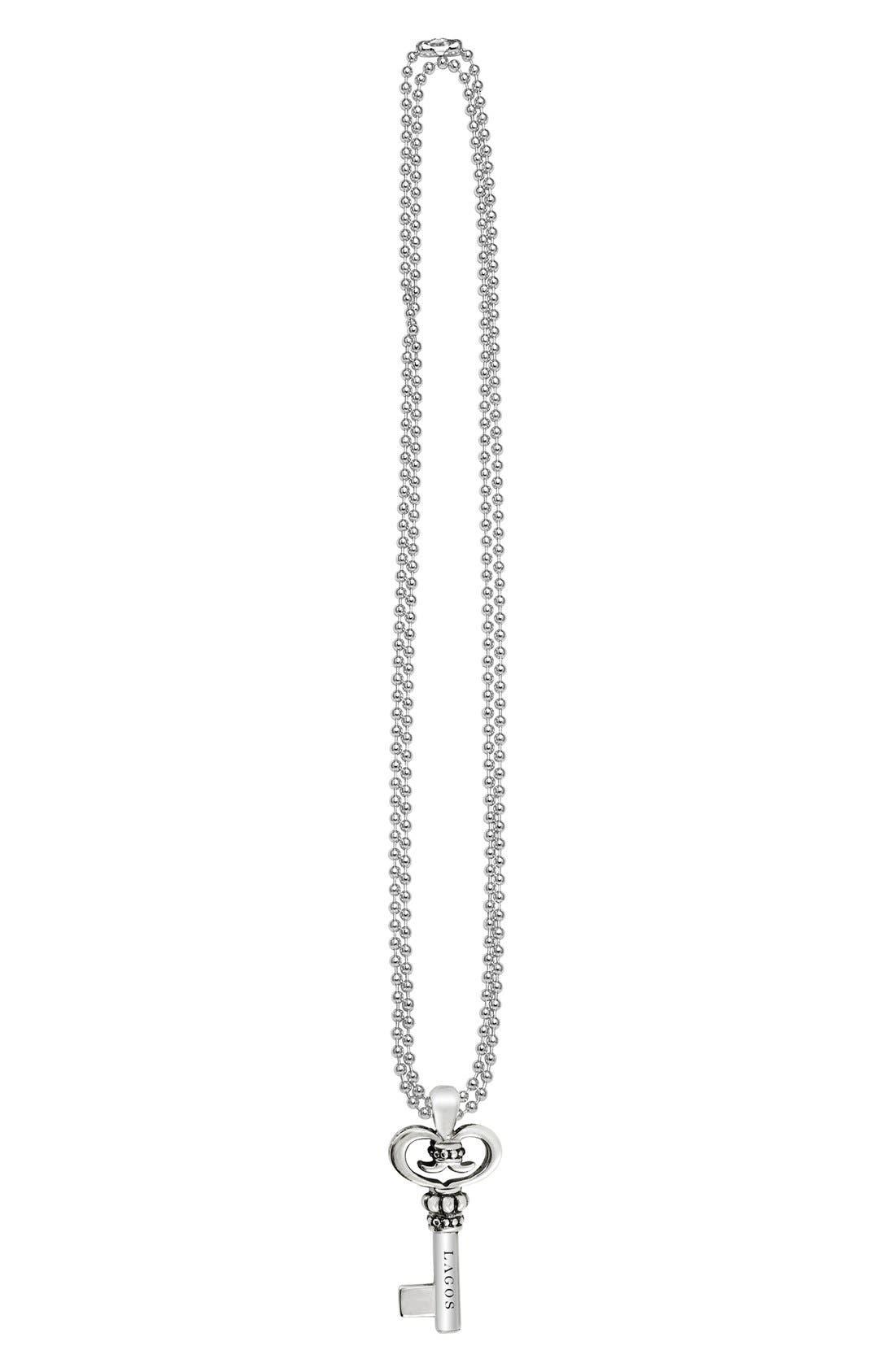 Sterling Silver Key Long Strand Pendant Necklace,                             Alternate thumbnail 7, color,                             KEY