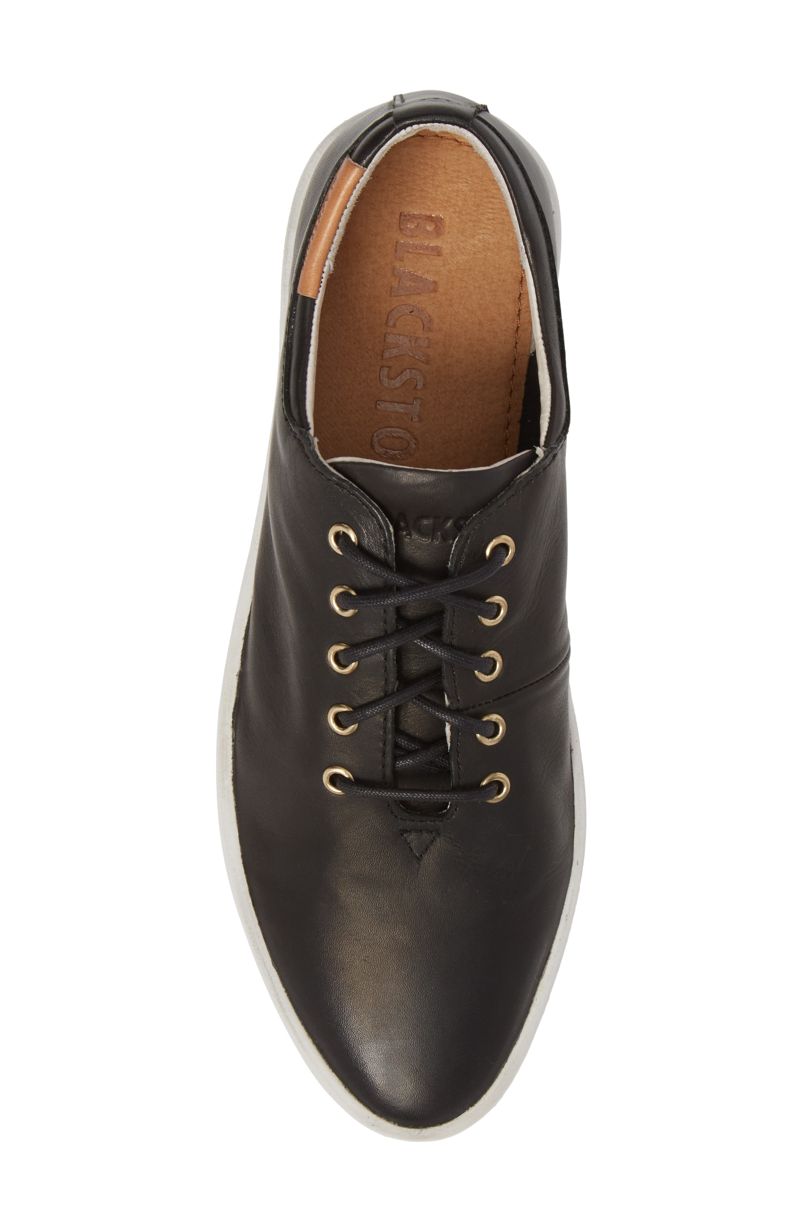 PL74 Sneaker,                             Alternate thumbnail 5, color,                             BLACK LEATHER