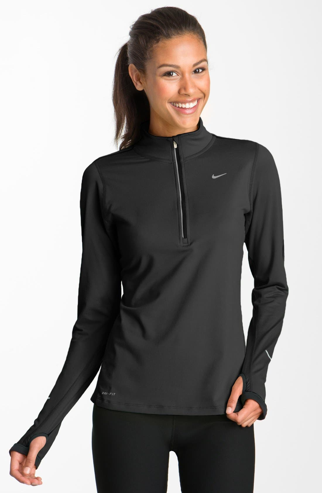 'Element' Dri-FIT Half Zip Performance Top,                             Main thumbnail 1, color,                             001