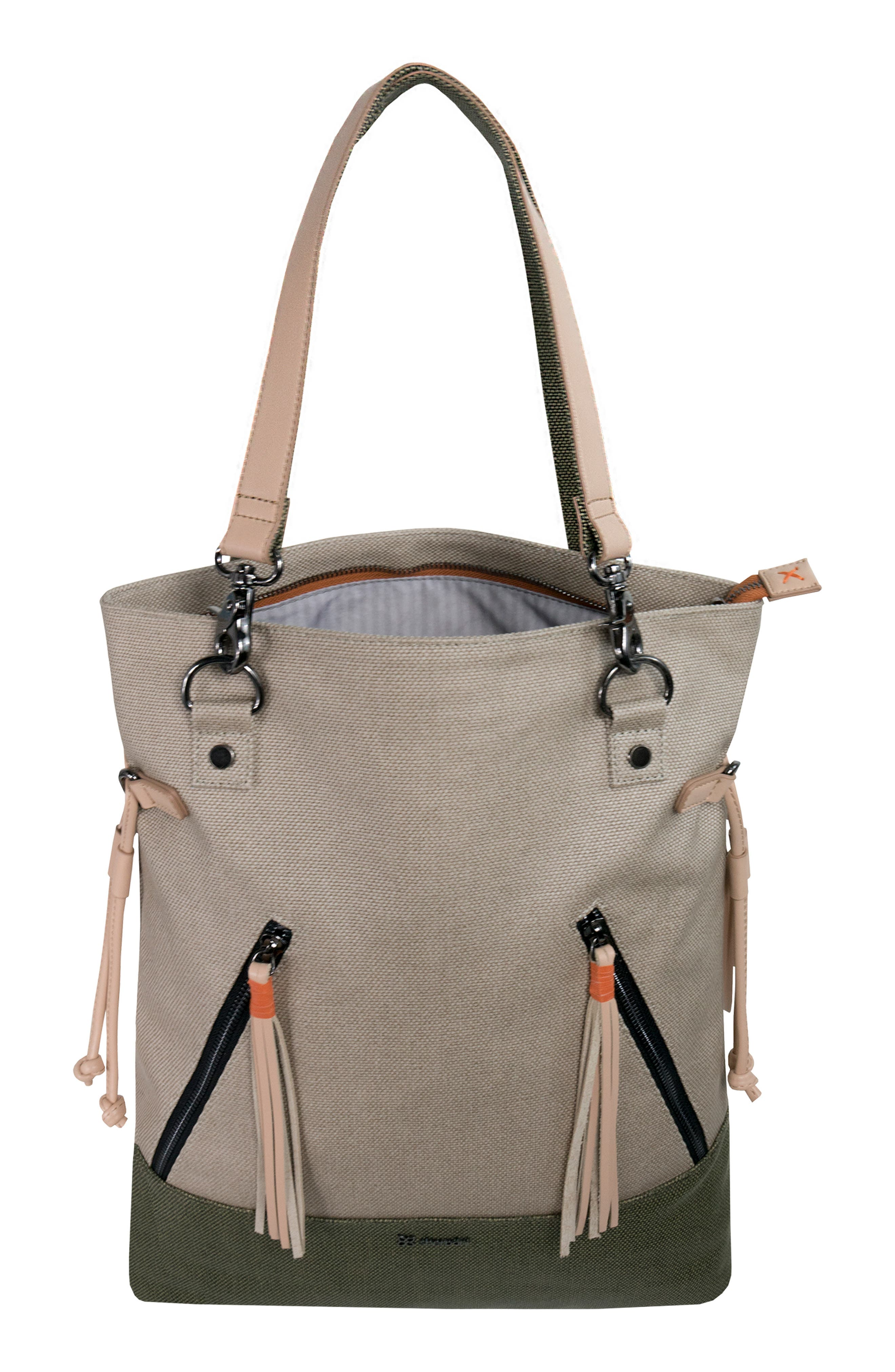 Tempest Canvas Convertible Backpack,                             Alternate thumbnail 4, color,                             901