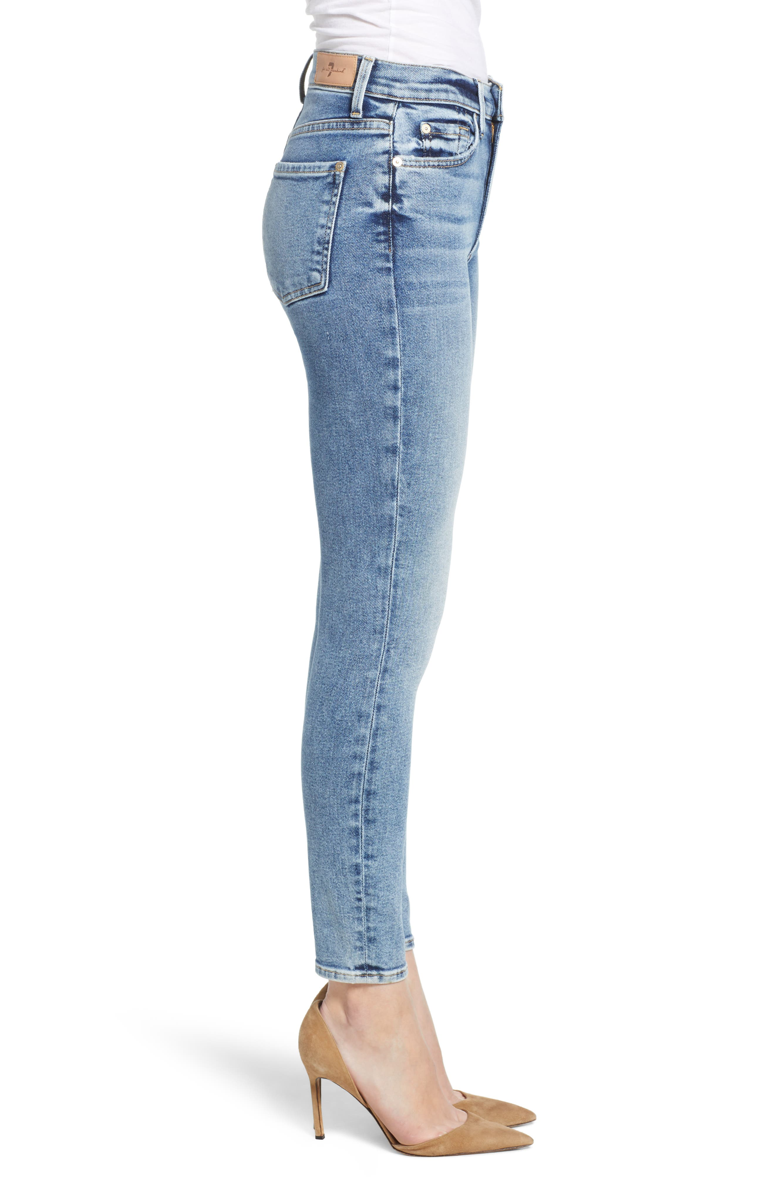 Luxe Vintage High Waist Ankle Skinny Jeans,                             Alternate thumbnail 3, color,                             LUXE VINTAGE MUSE