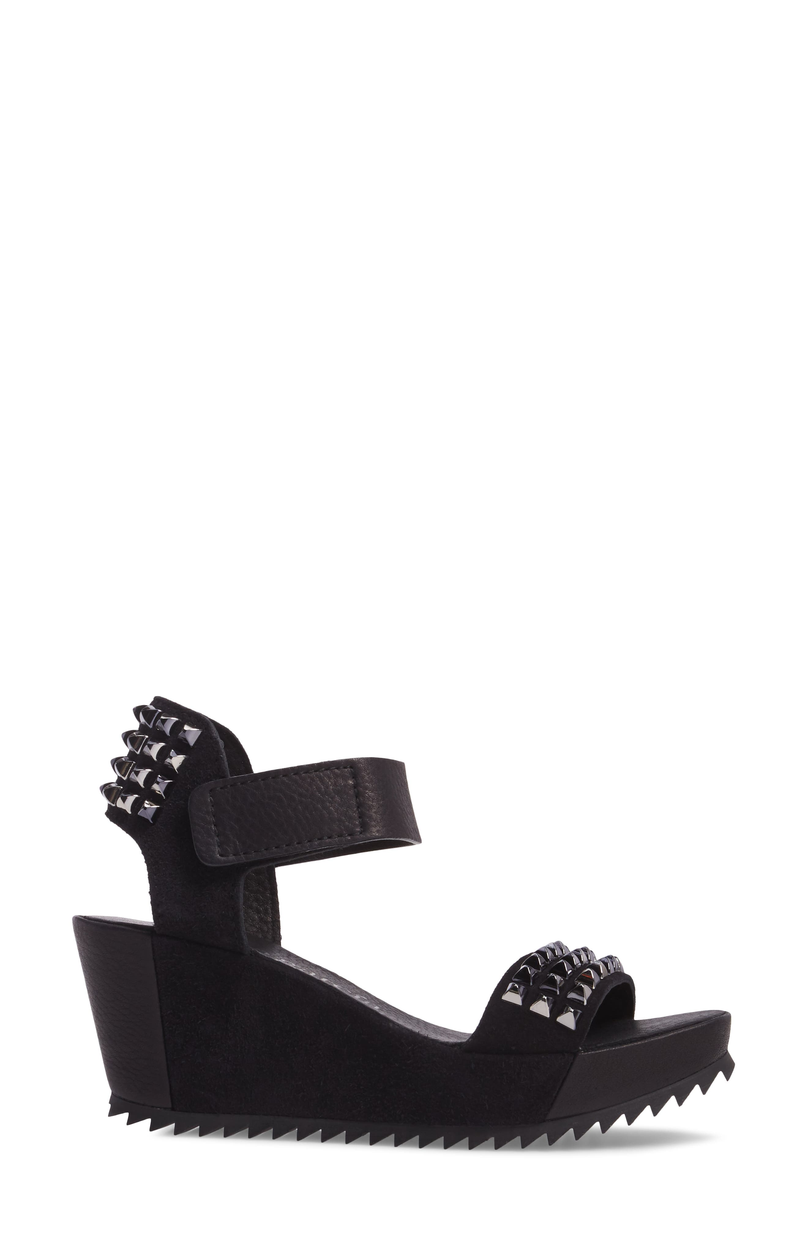 Fortuna Studded Wedge Sandal,                             Alternate thumbnail 3, color,