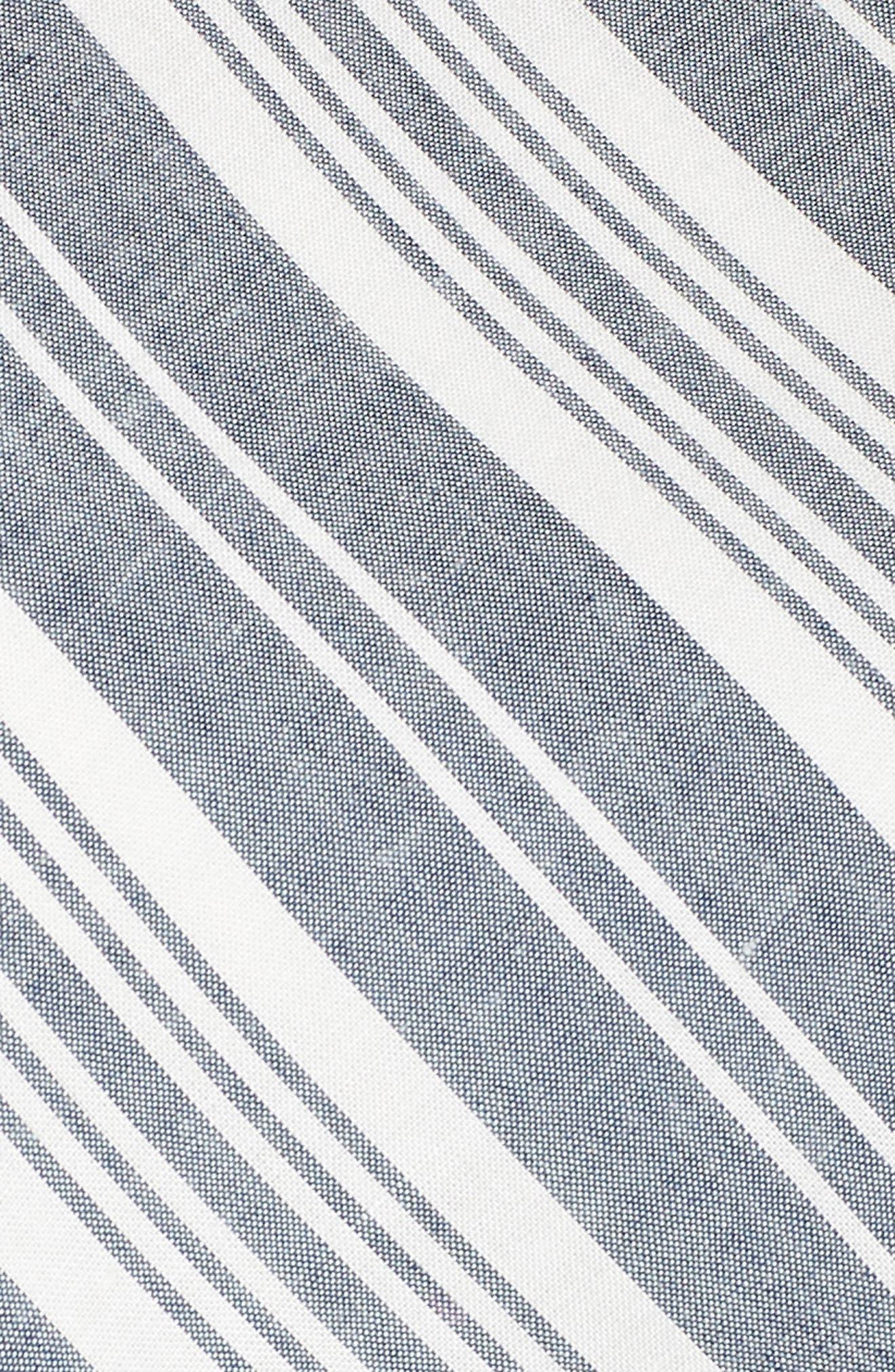 Sleeveless Stripe Romper,                             Alternate thumbnail 6, color,                             NAVY