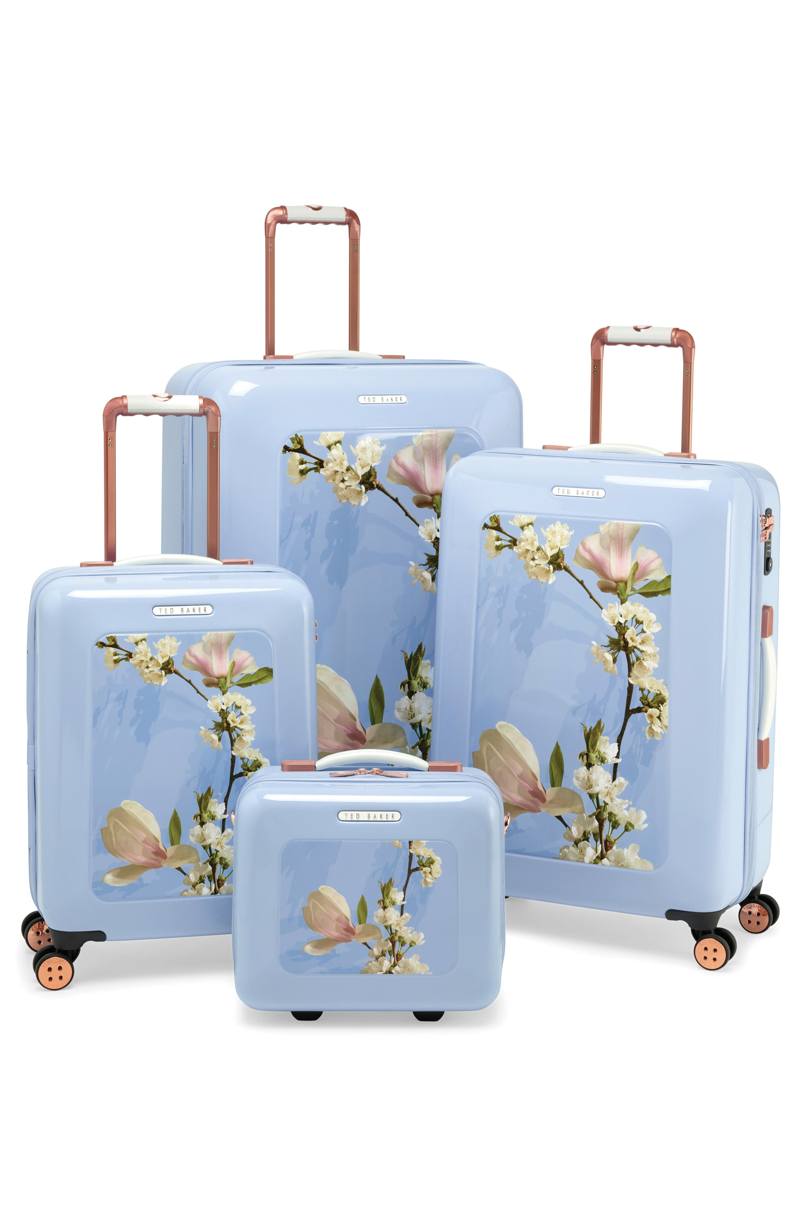 TED BAKER LONDON,                             Medium Harmony 27-Inch Hard Shell Spinner Suitcase,                             Alternate thumbnail 5, color,                             BLUE