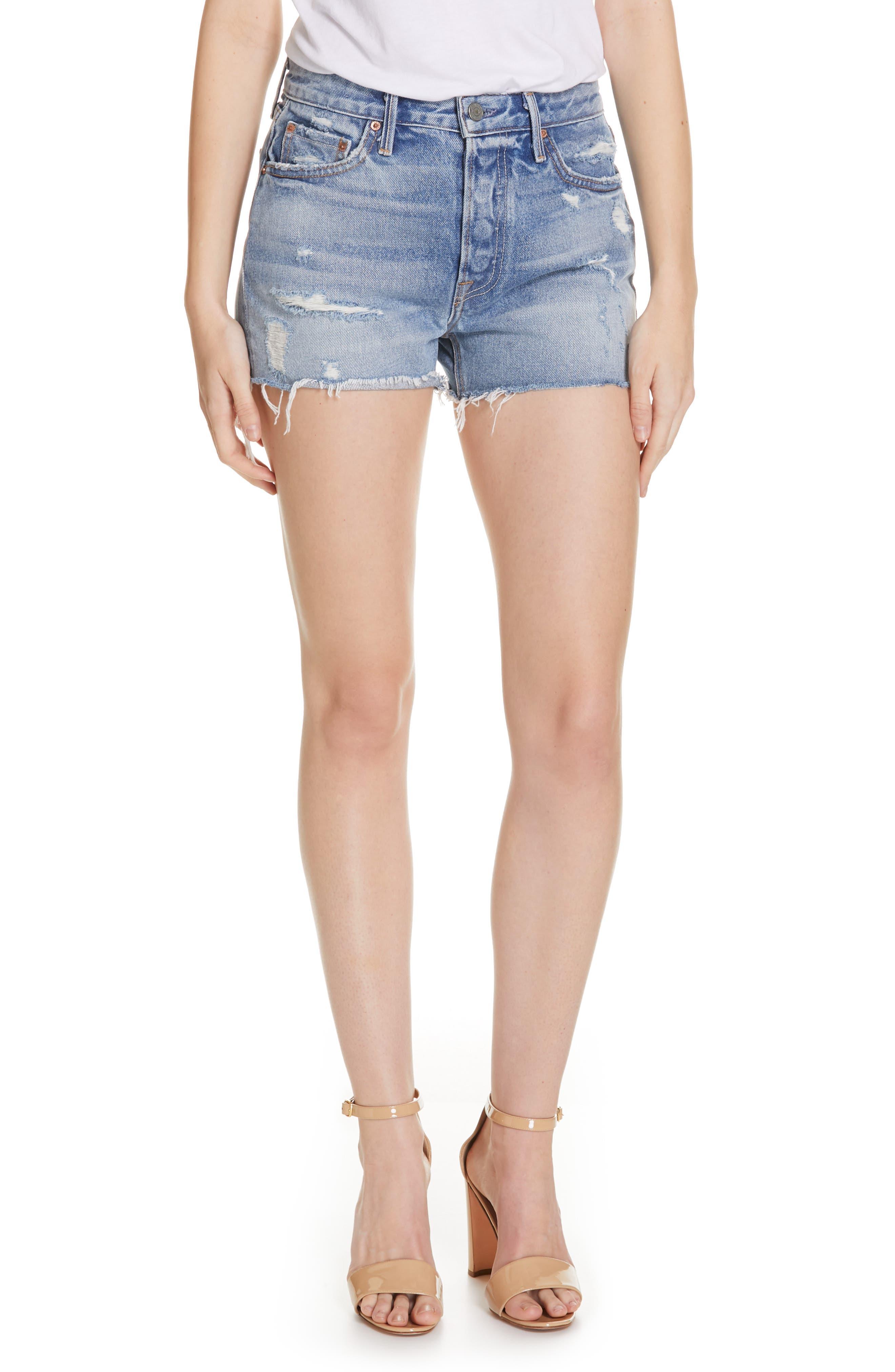Helena Denim Shorts, Main, color, SHOW ME