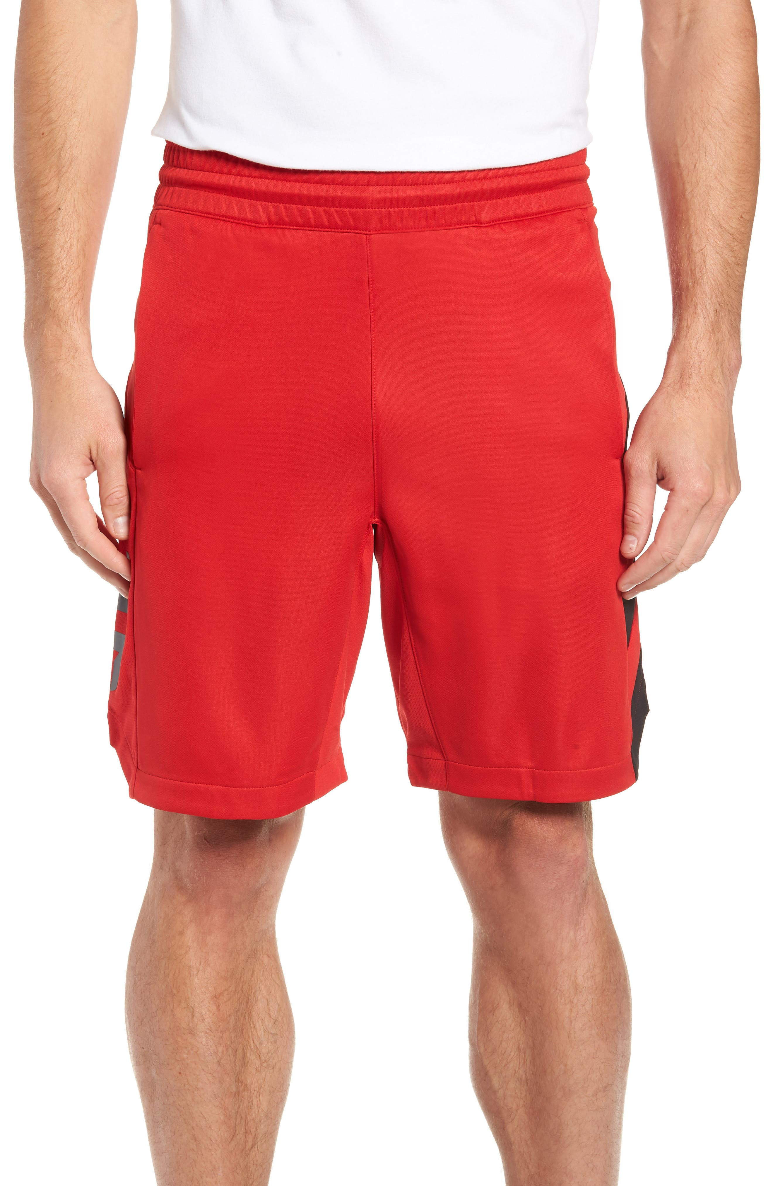 Harden Performance Shorts,                             Main thumbnail 1, color,                             SCARLET