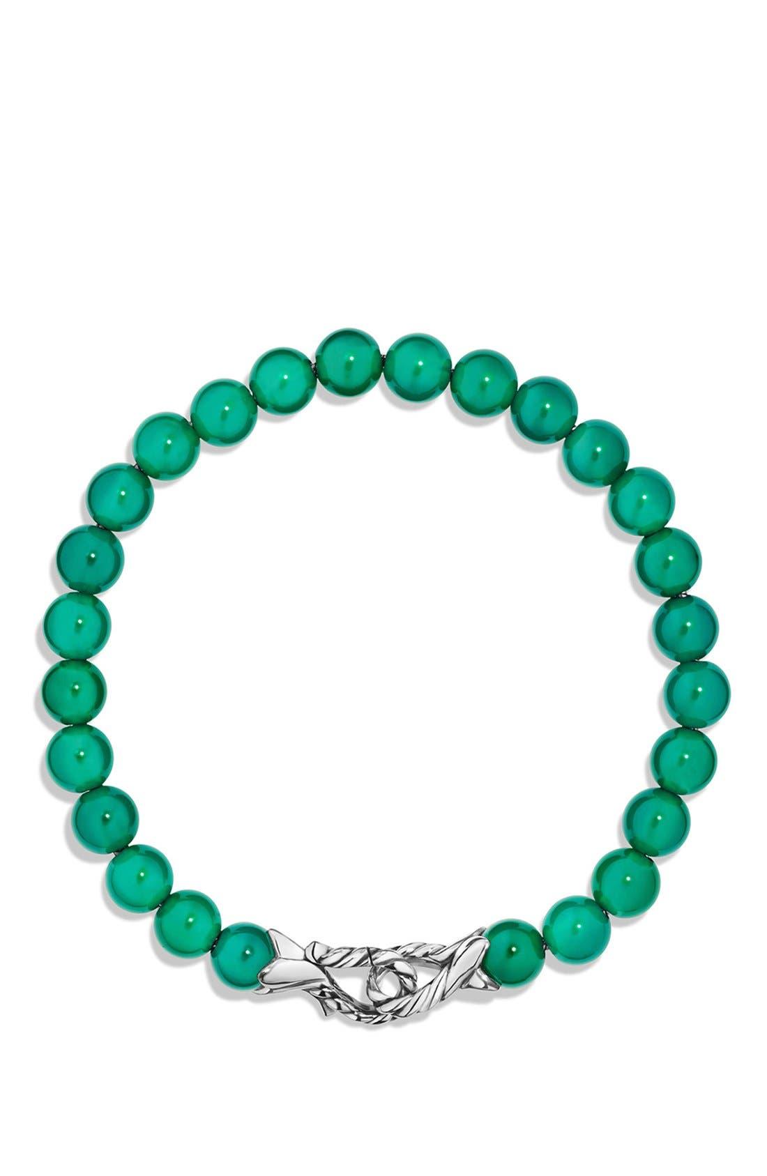 DAVID YURMAN,                             'Spiritual Beads' Bracelet,                             Alternate thumbnail 2, color,                             GREEN ONYX