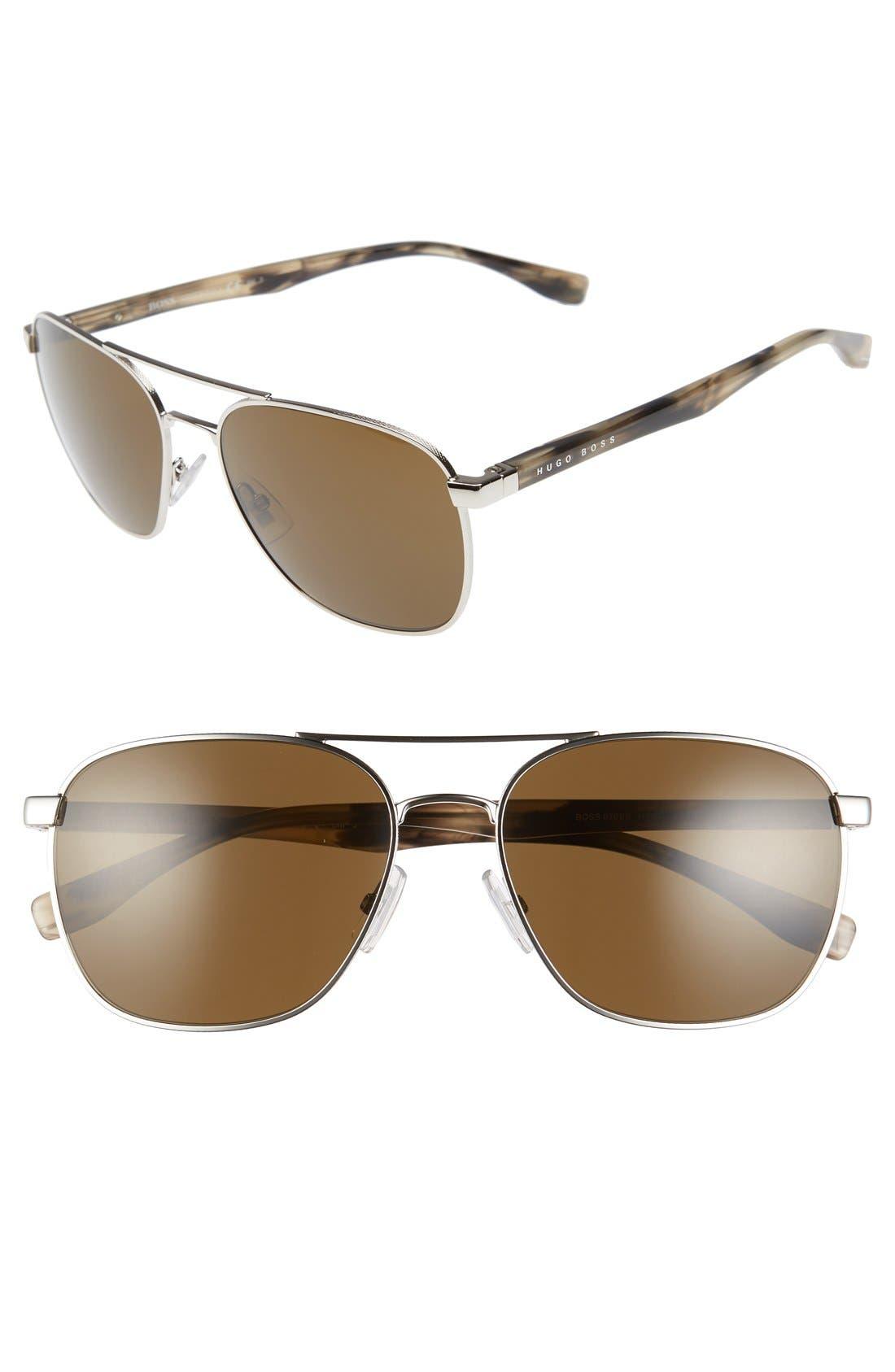 '0701/S' 57mm Aviator Sunglasses,                             Main thumbnail 1, color,                             211