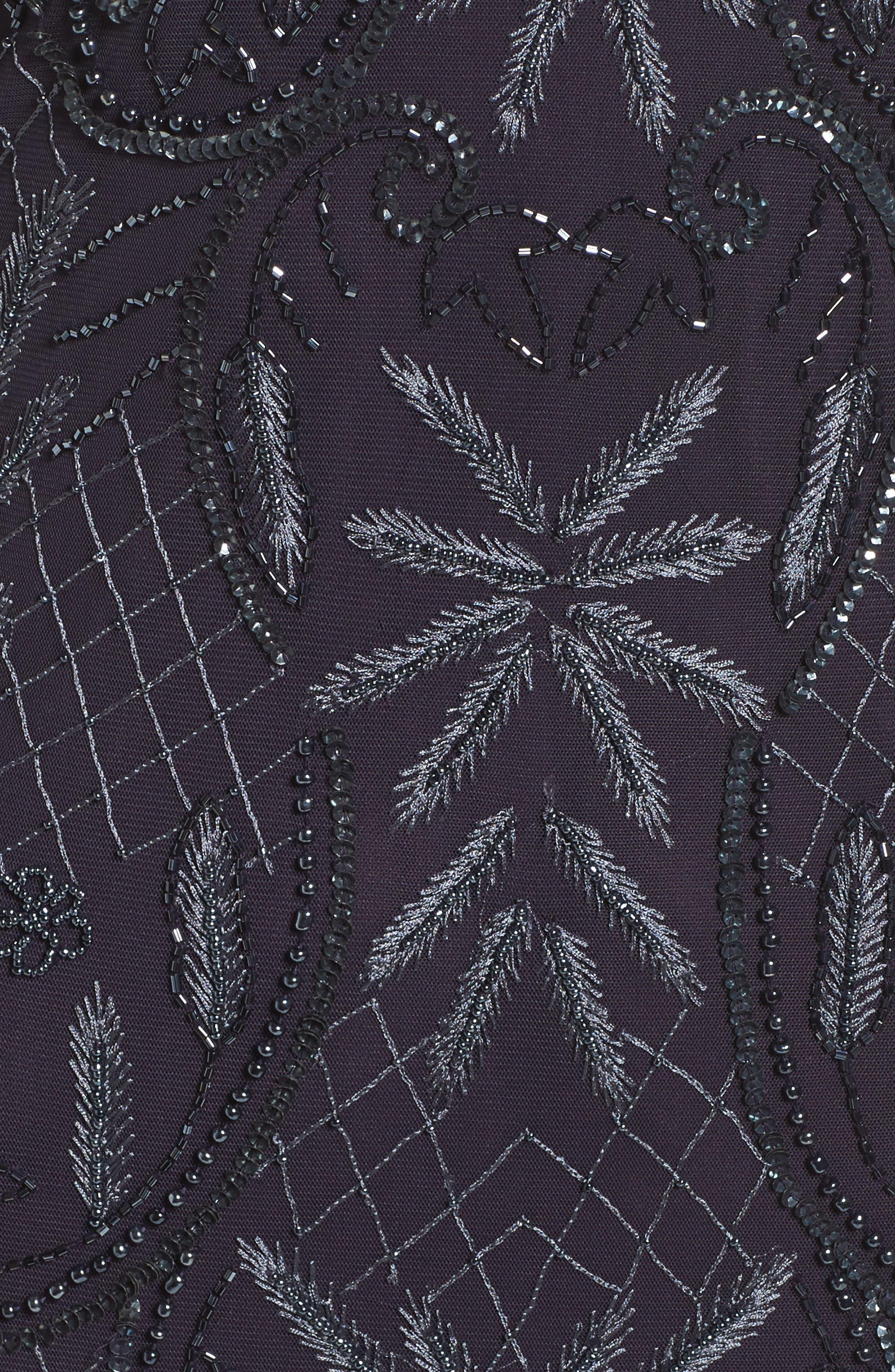 Embellished Off the Shoulder Column Gown,                             Alternate thumbnail 5, color,                             020