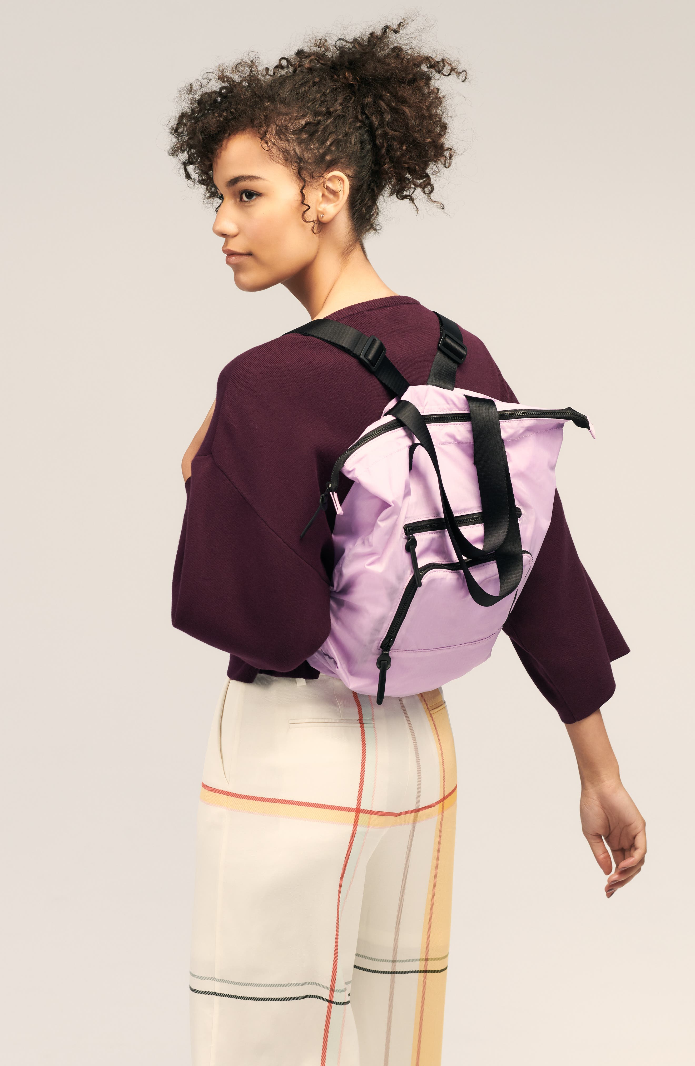 Packable Convertible Backpack,                             Alternate thumbnail 10, color,                             LAVENDER SWEET