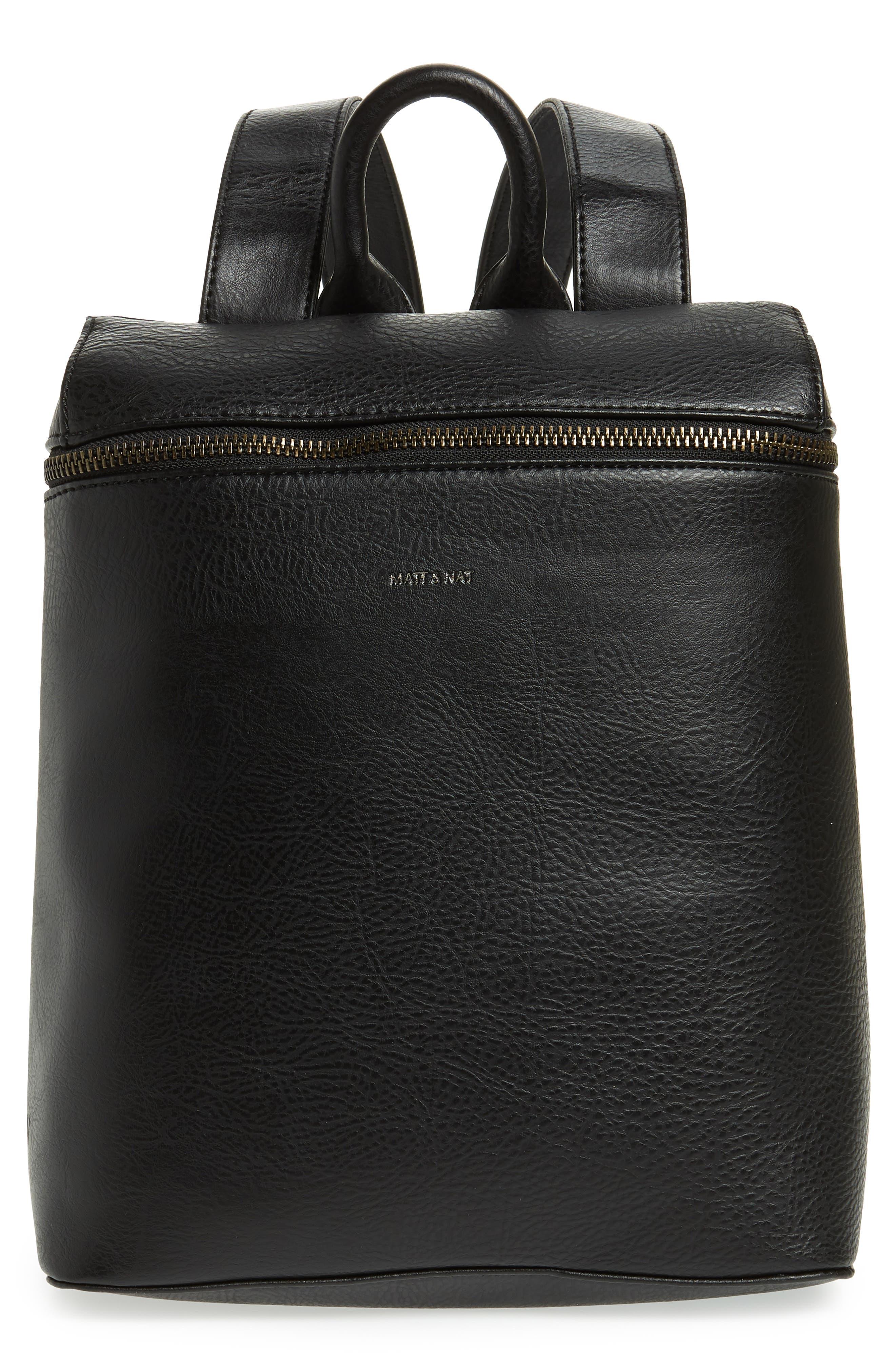 Rahi Faux Leather Backpack,                             Main thumbnail 1, color,                             001