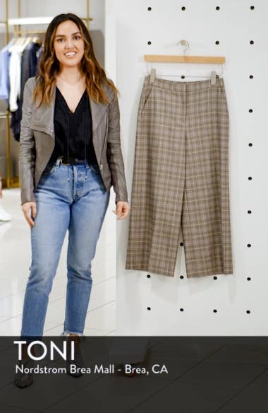 Plaid Wide Leg Crop Pants, sales video thumbnail